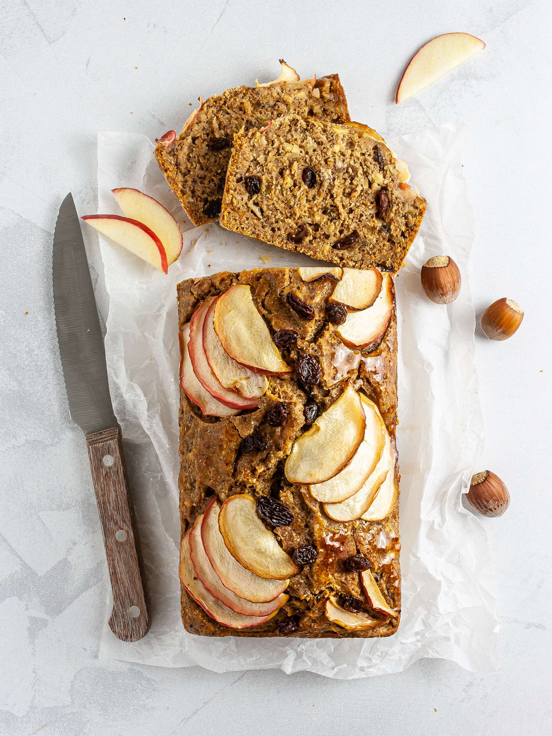 Vegan Apple Bread Recipe Thumbnail