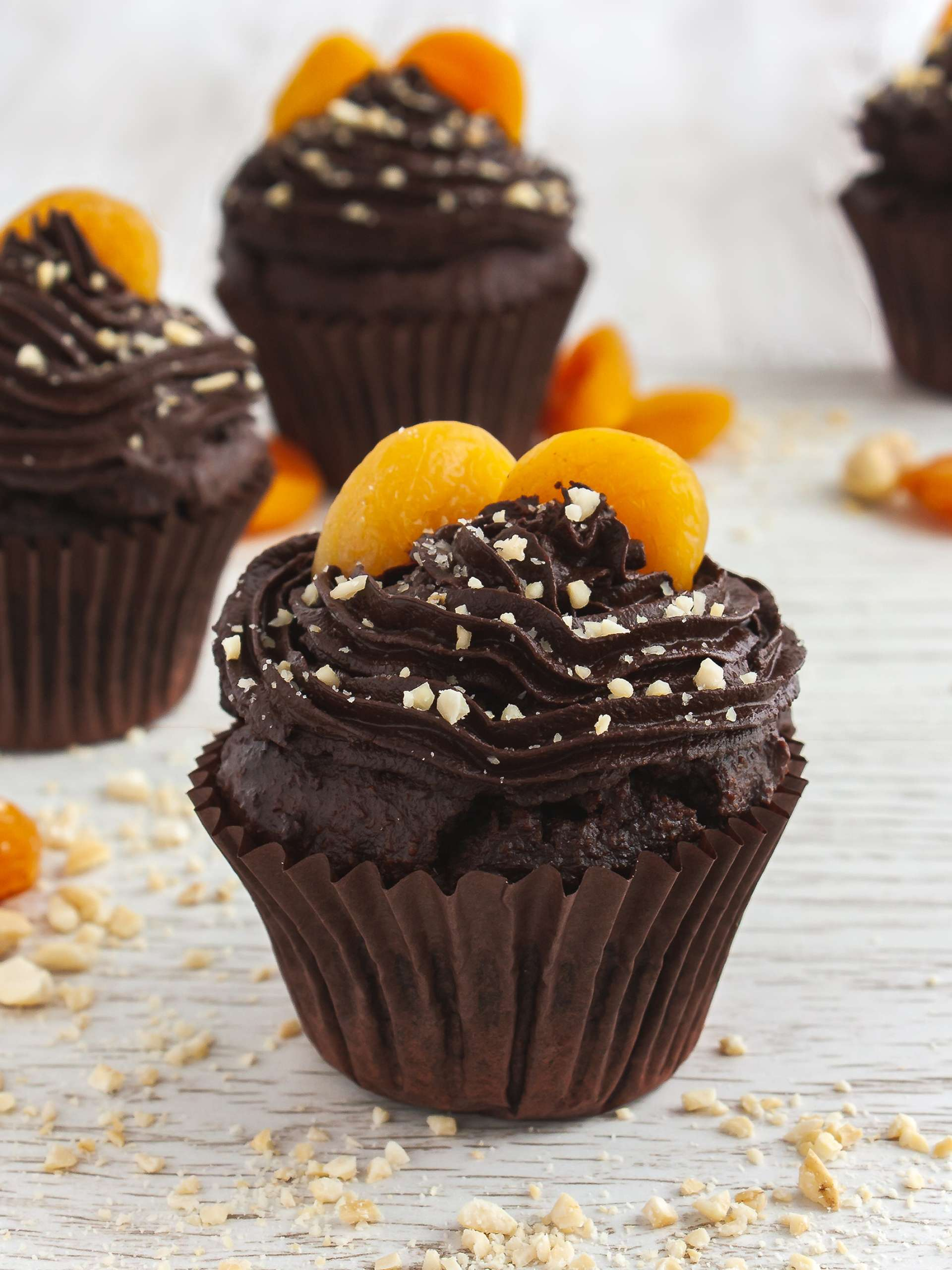 Gluten Free Vegan Chocolate Cupcakes with Apricot Jam Recipe Thumbnail