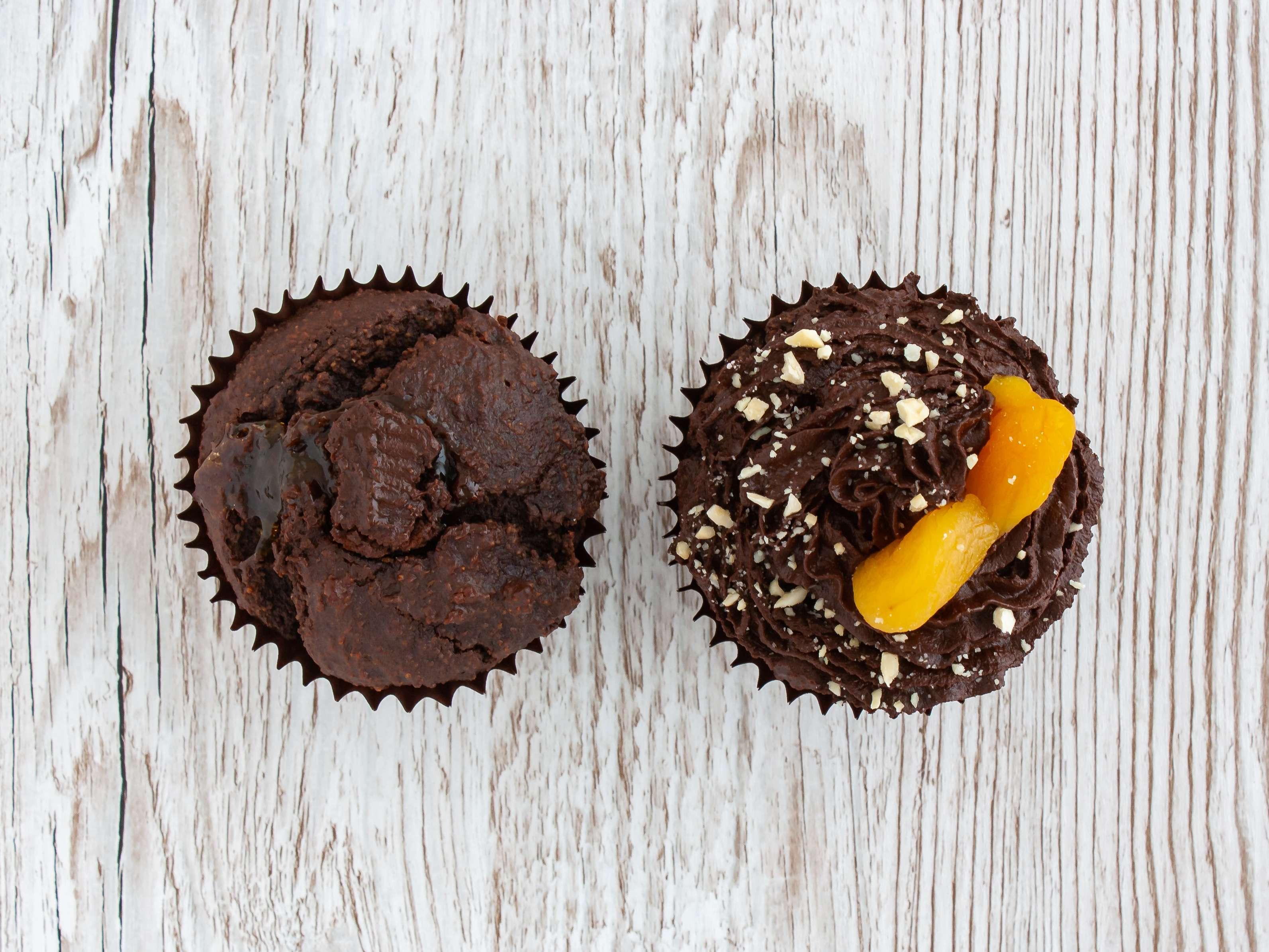 Step 5.2 of Gluten Free Vegan Chocolate Cupcakes with Apricot Jam Recipe