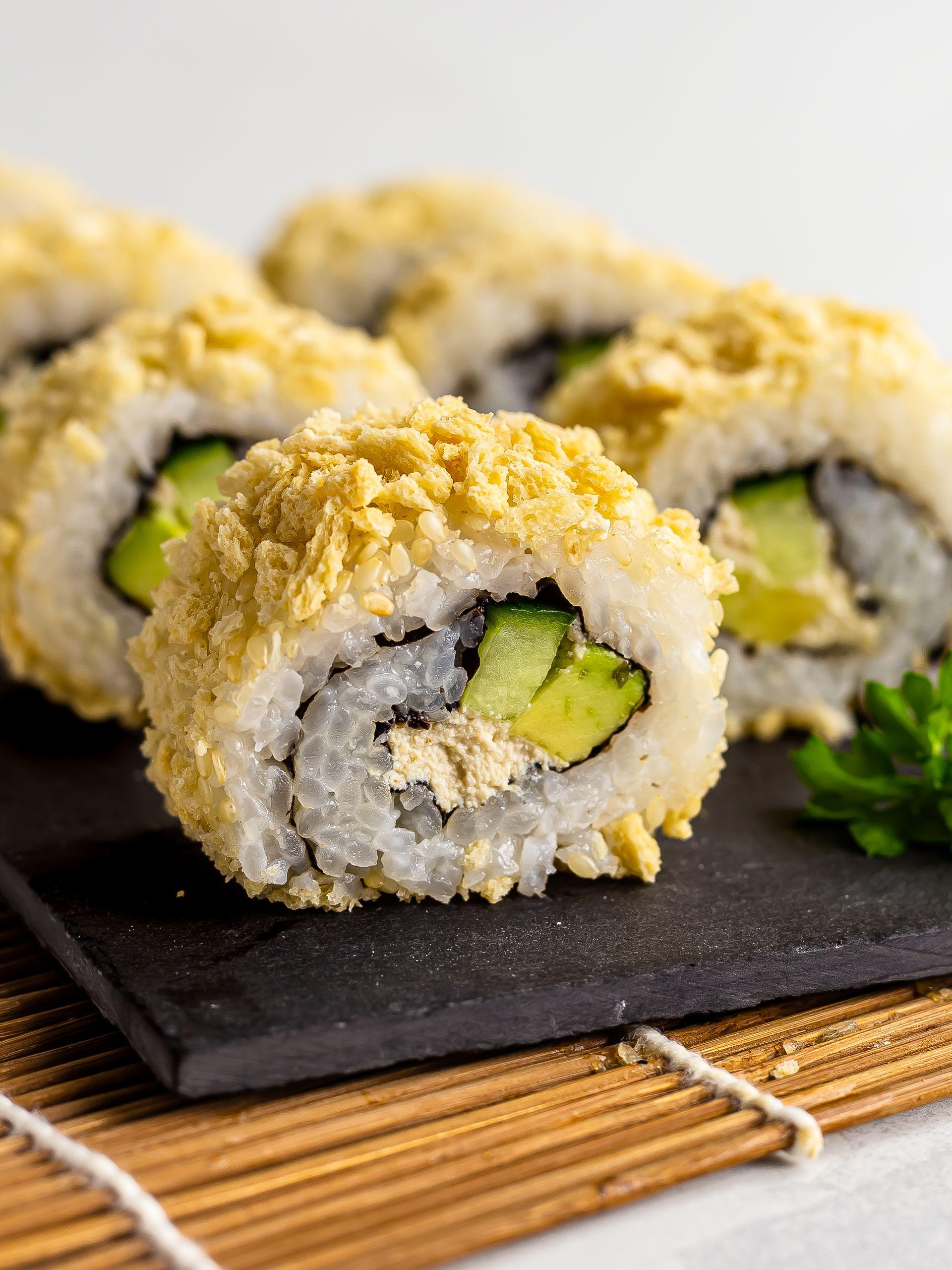 Crunchy California Rolls Sushi with Tofu