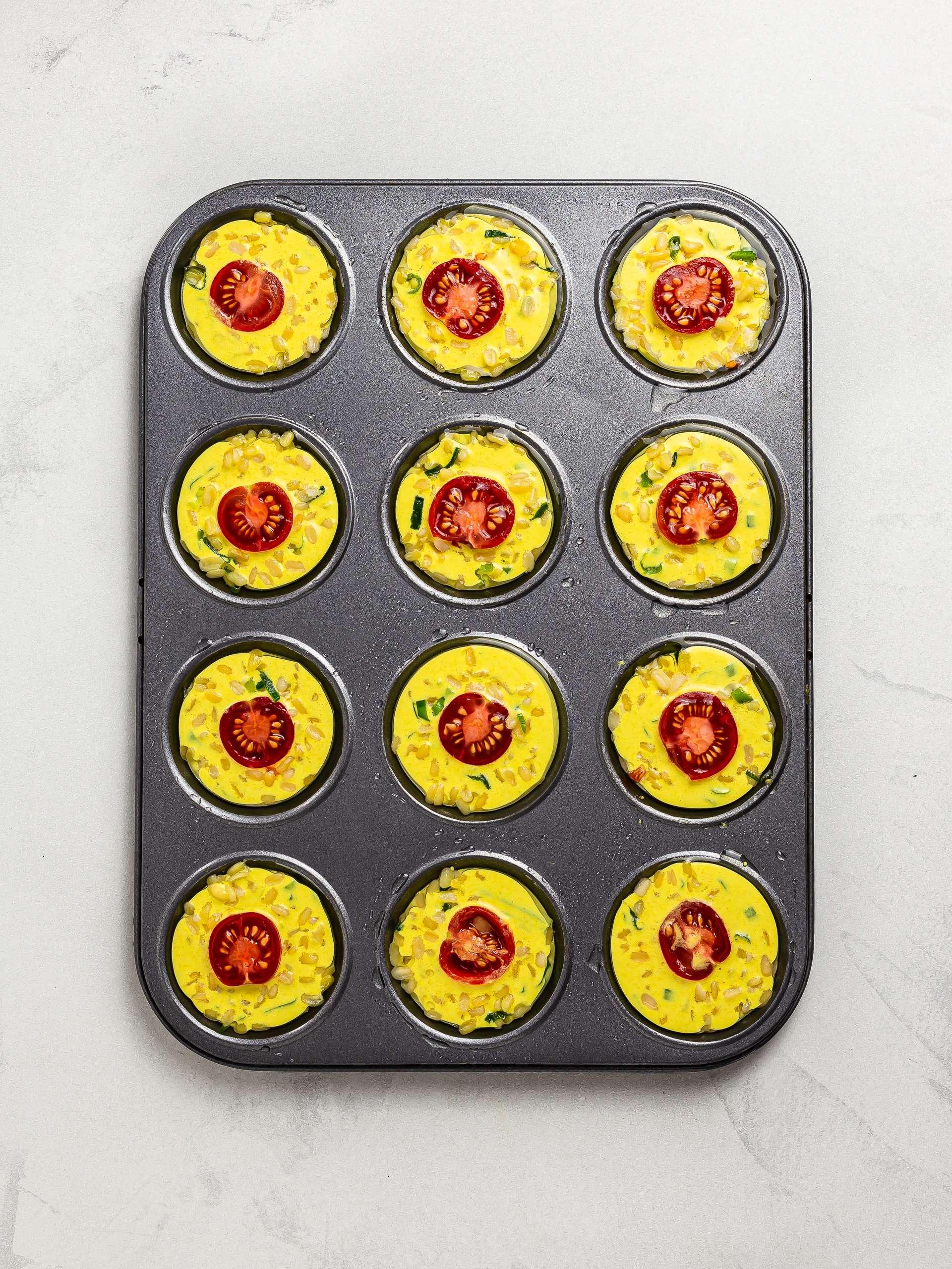 banh khot pancake batter in a bun tray