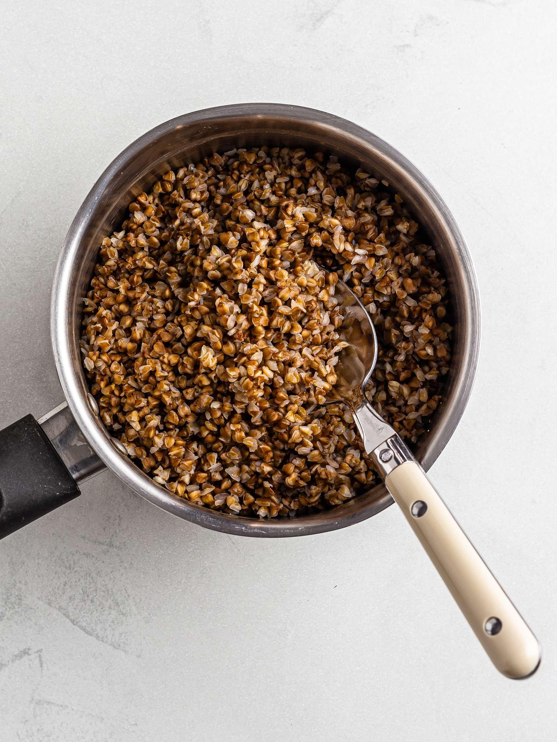 cooked roasted buckwheat groats