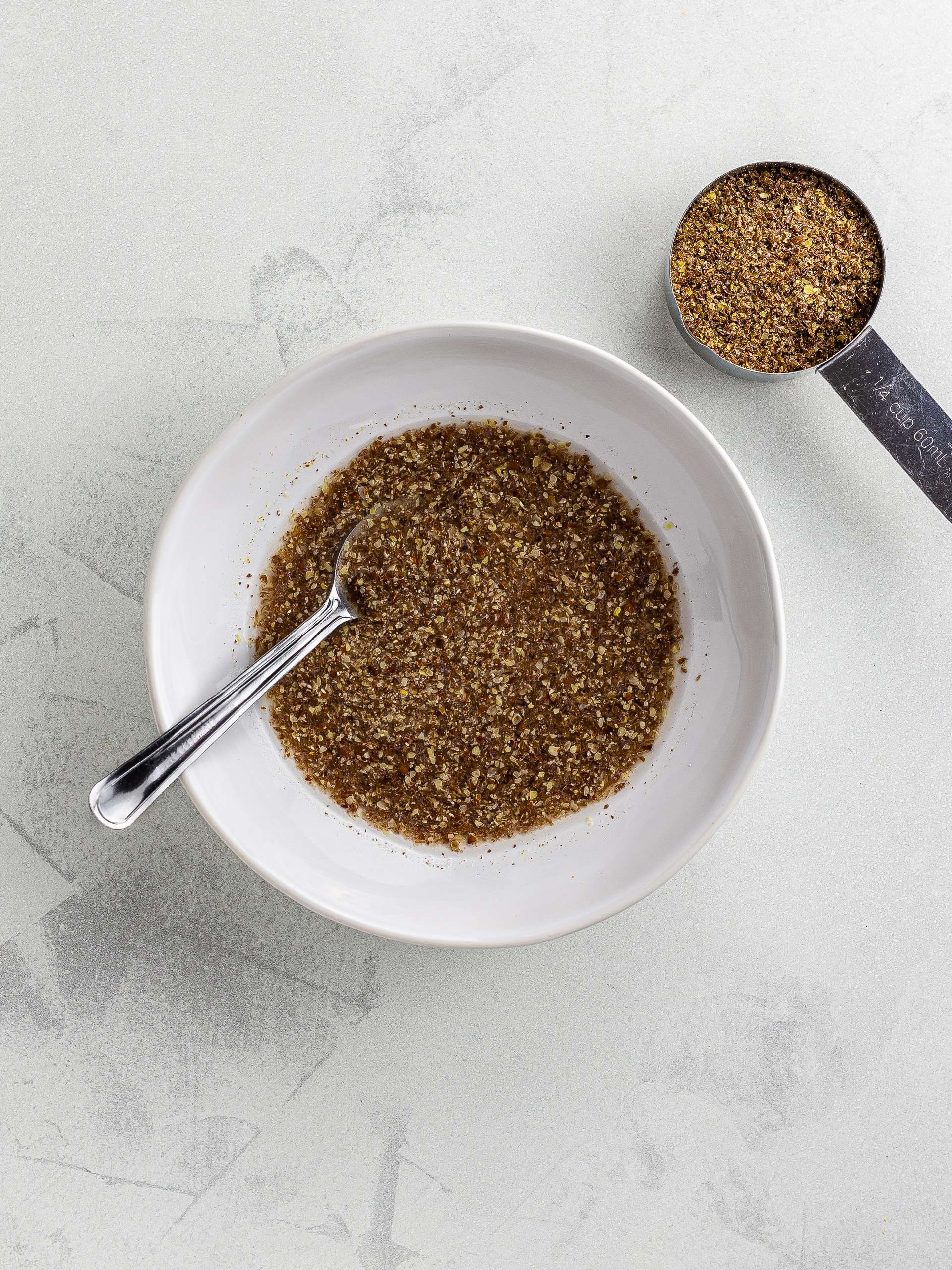 flaxseeds soaked in water for