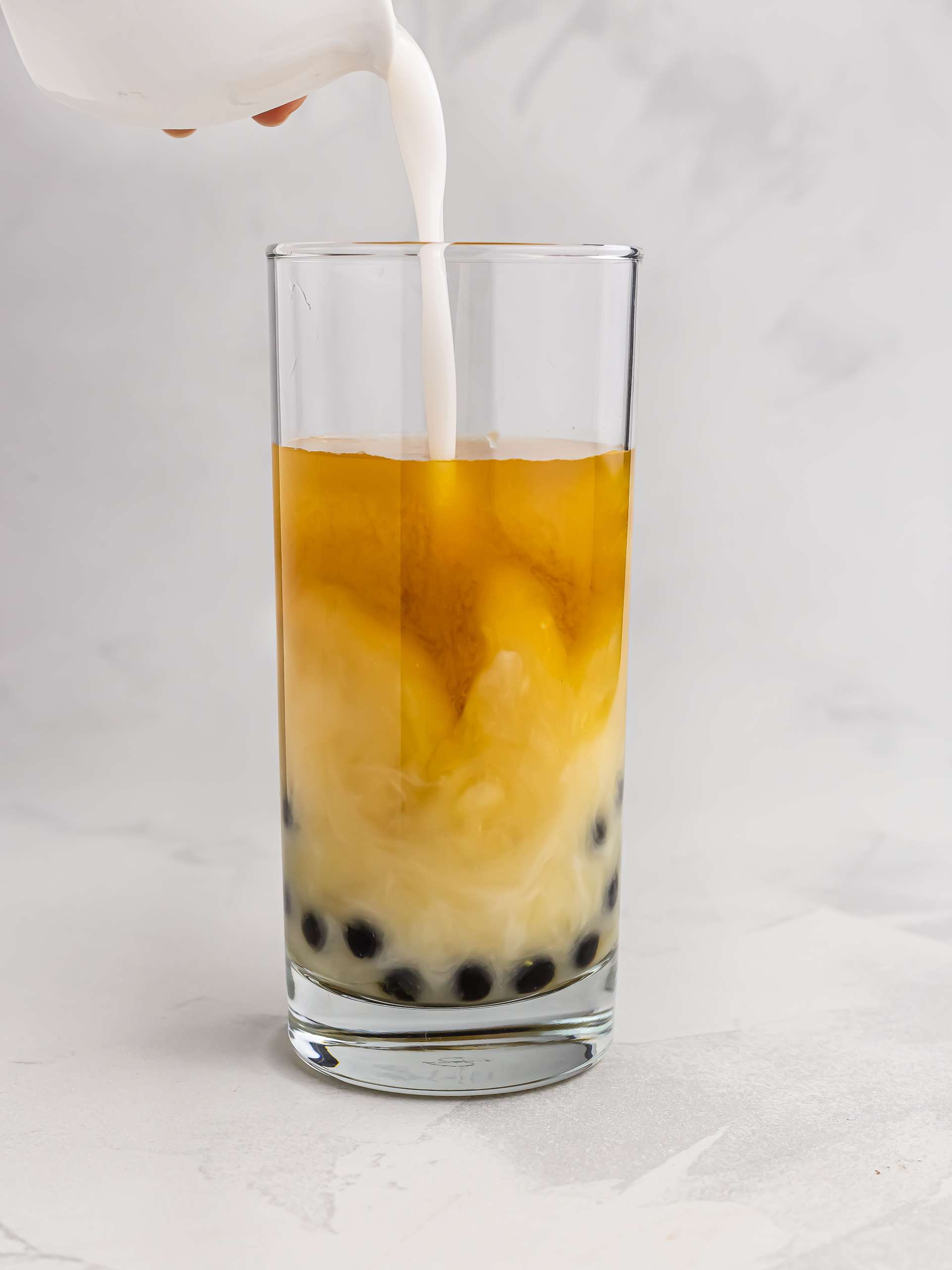 bubble tea with coconut milk