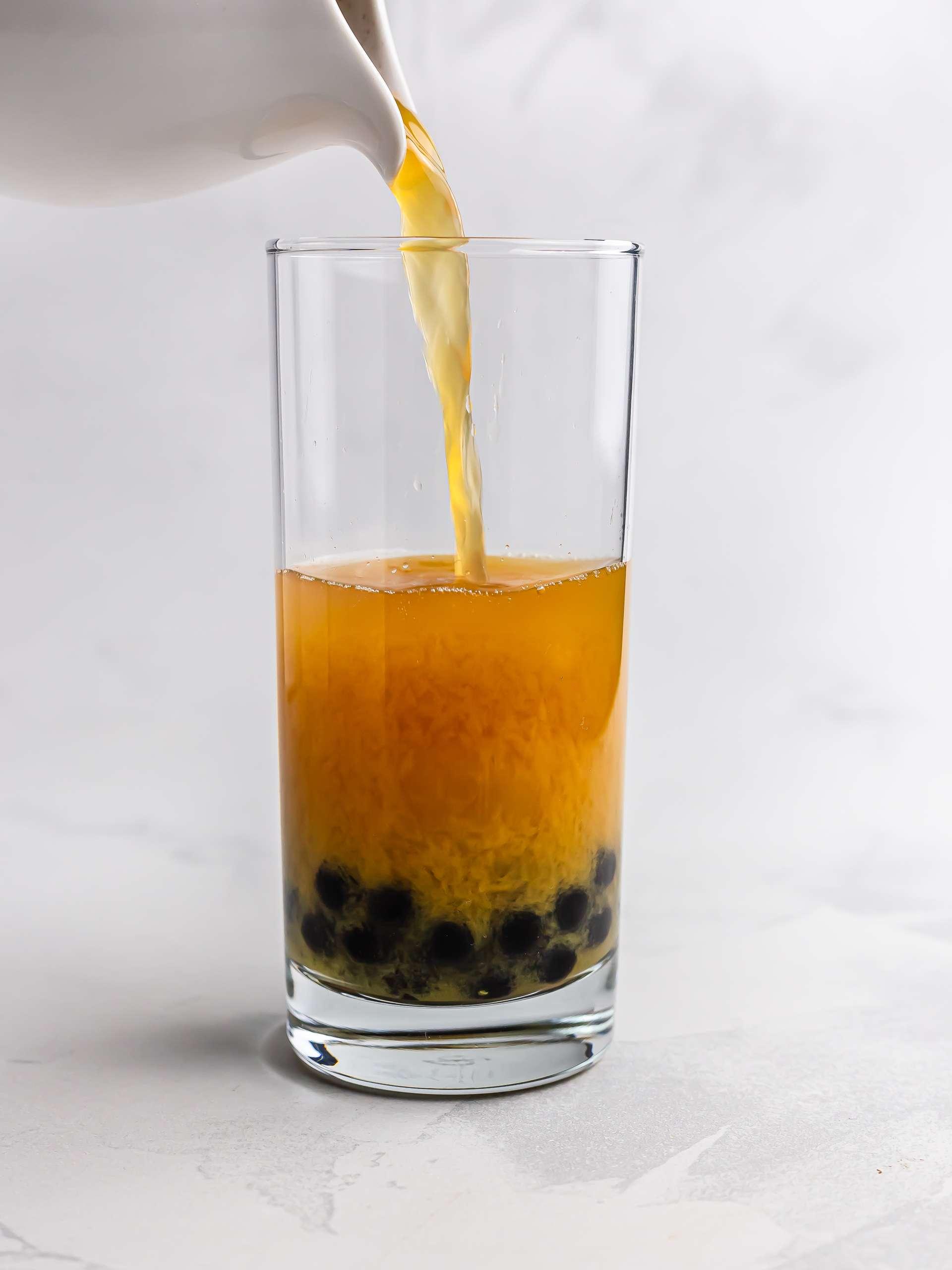 passion fruit bubble tea