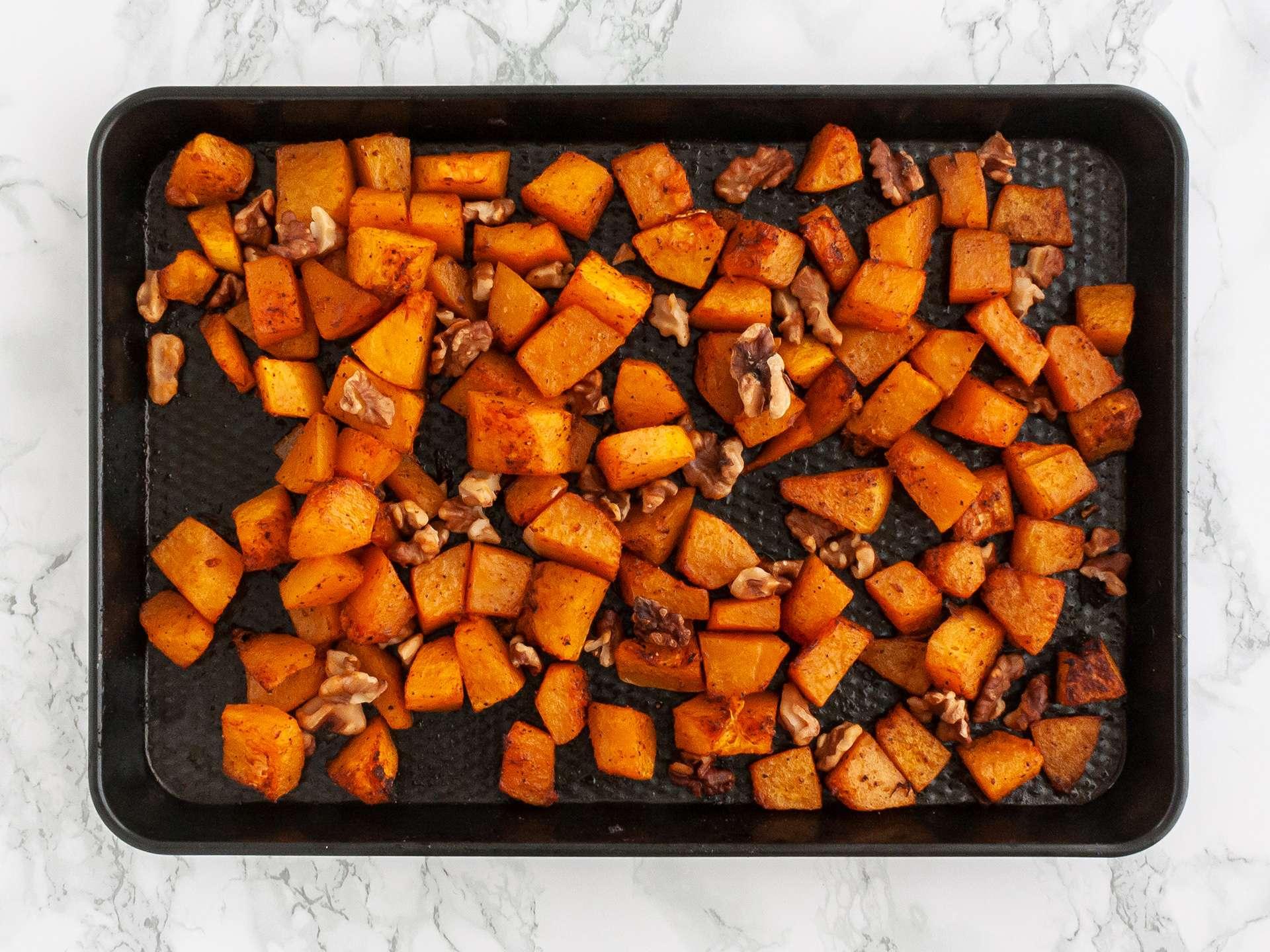 Step 1.1 of Pumpkin Spinach and Feta Salad Recipe