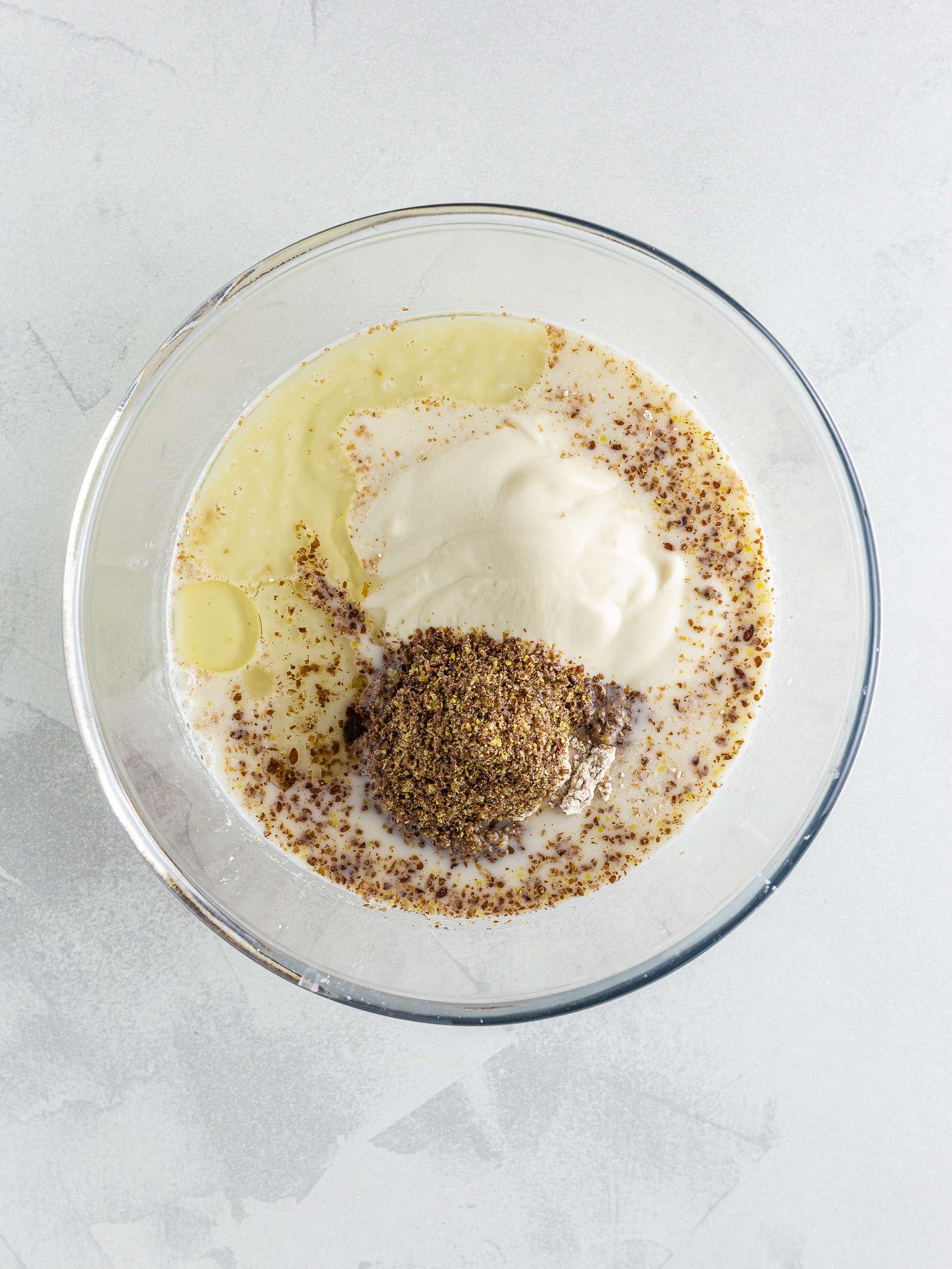 Almond milk crepes ingredients