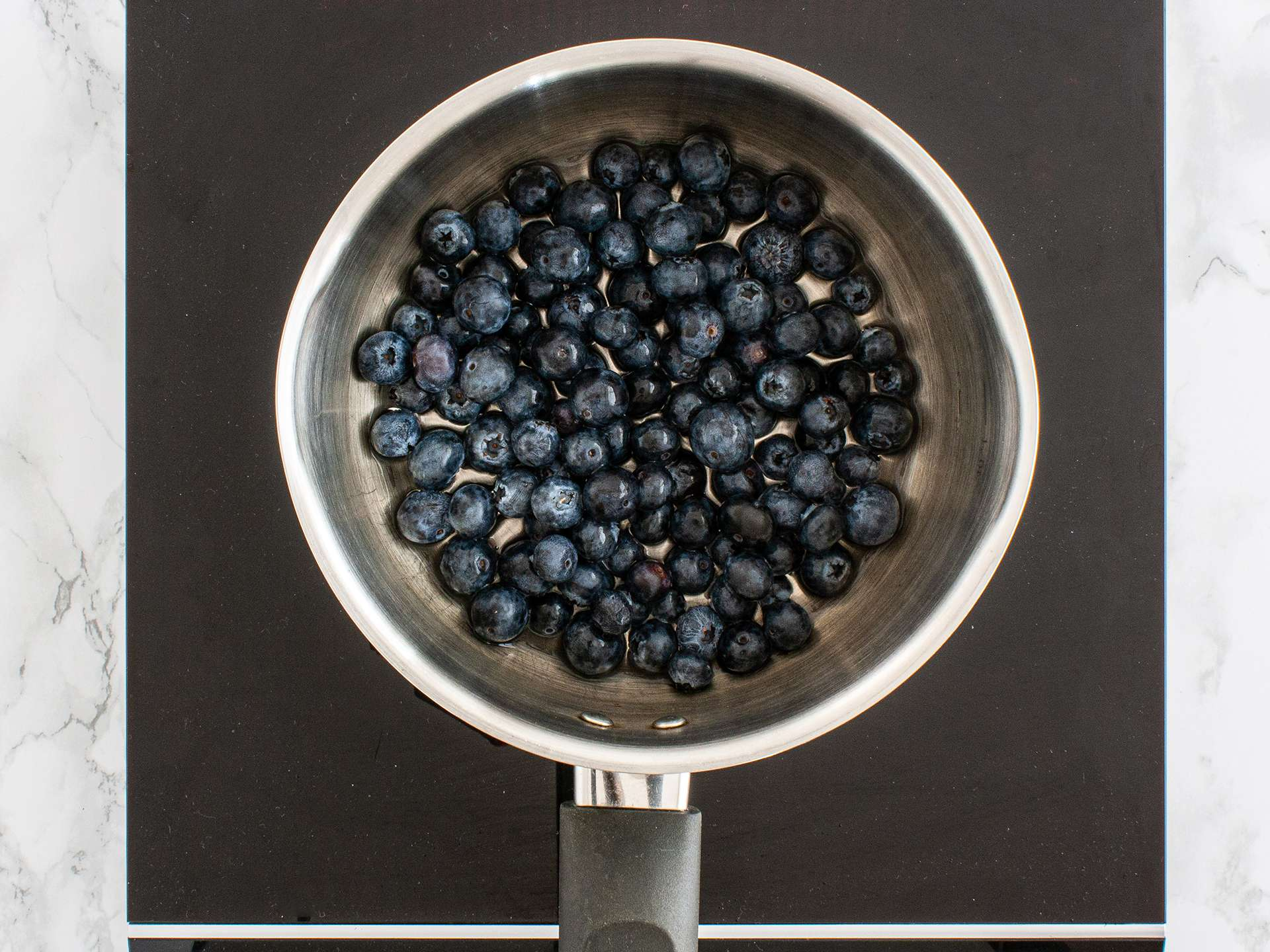 Step 1.1 of Sugar Free Blueberry Jam Recipe with Flaxseeds