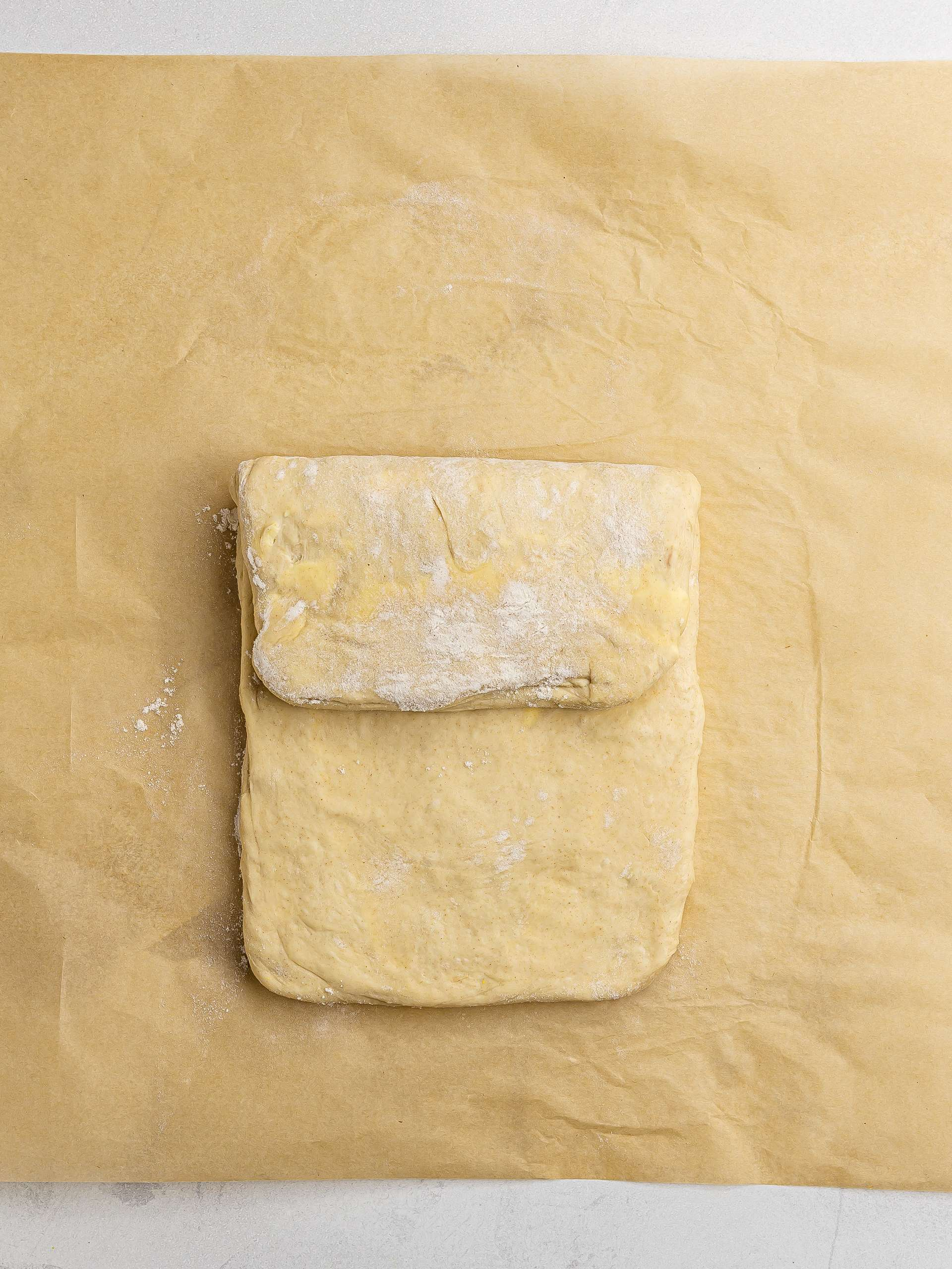 how to roll and fold pastry dough