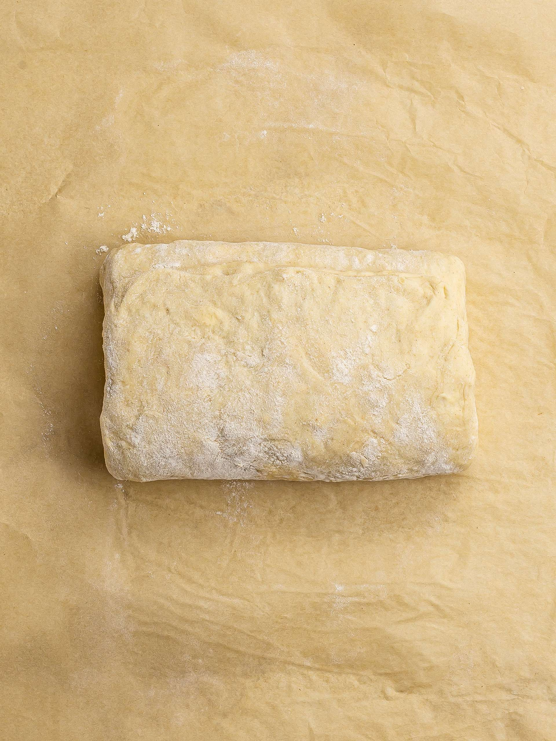 folded pastry dough