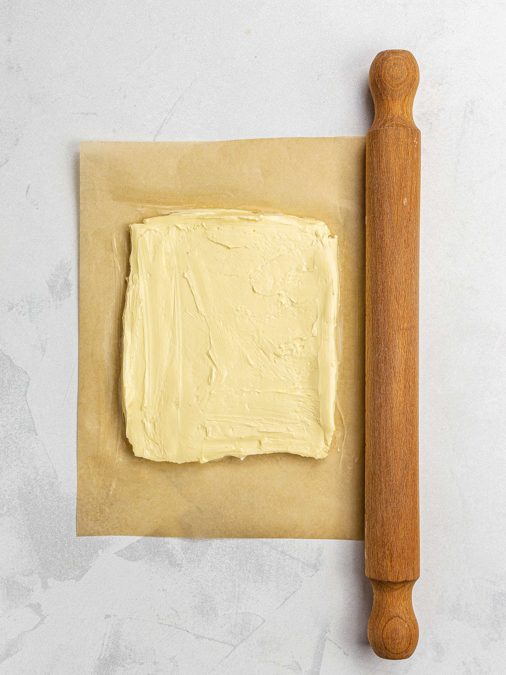 vegan butter slab for pastry dough