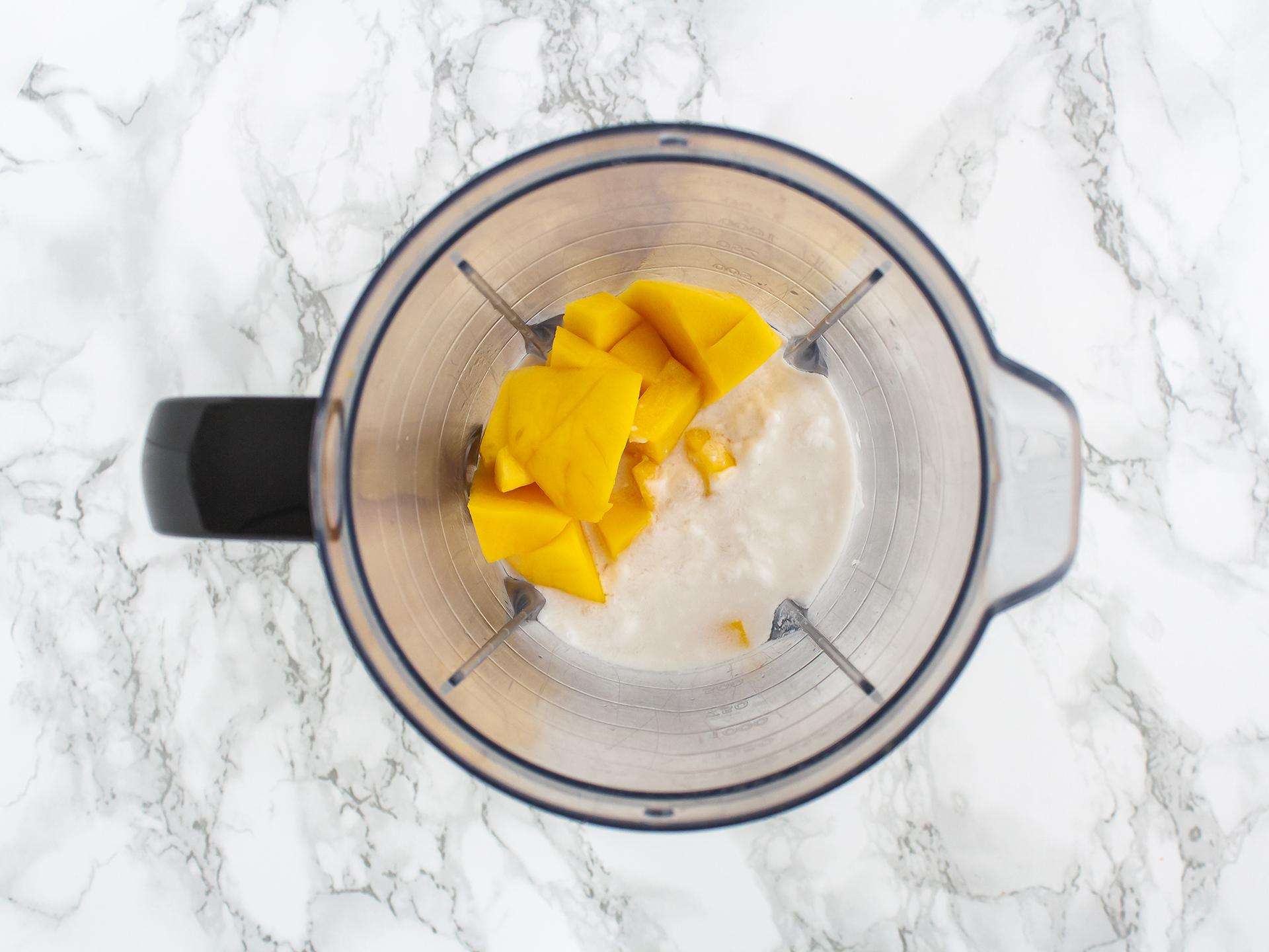 Step 2.1 of No Bake Vegan Mango Crème Brûlée