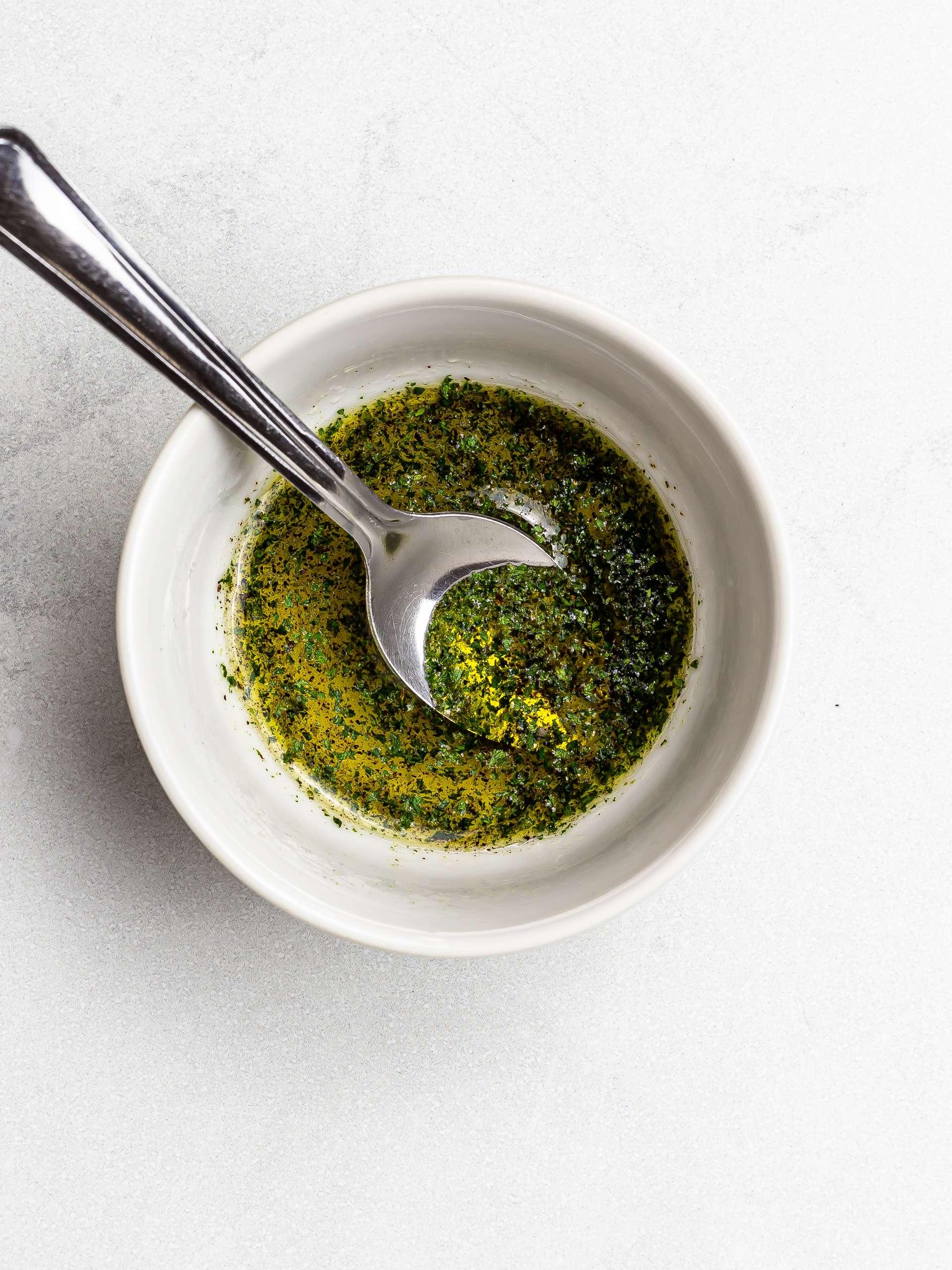 lemon and parsley vinaigrette