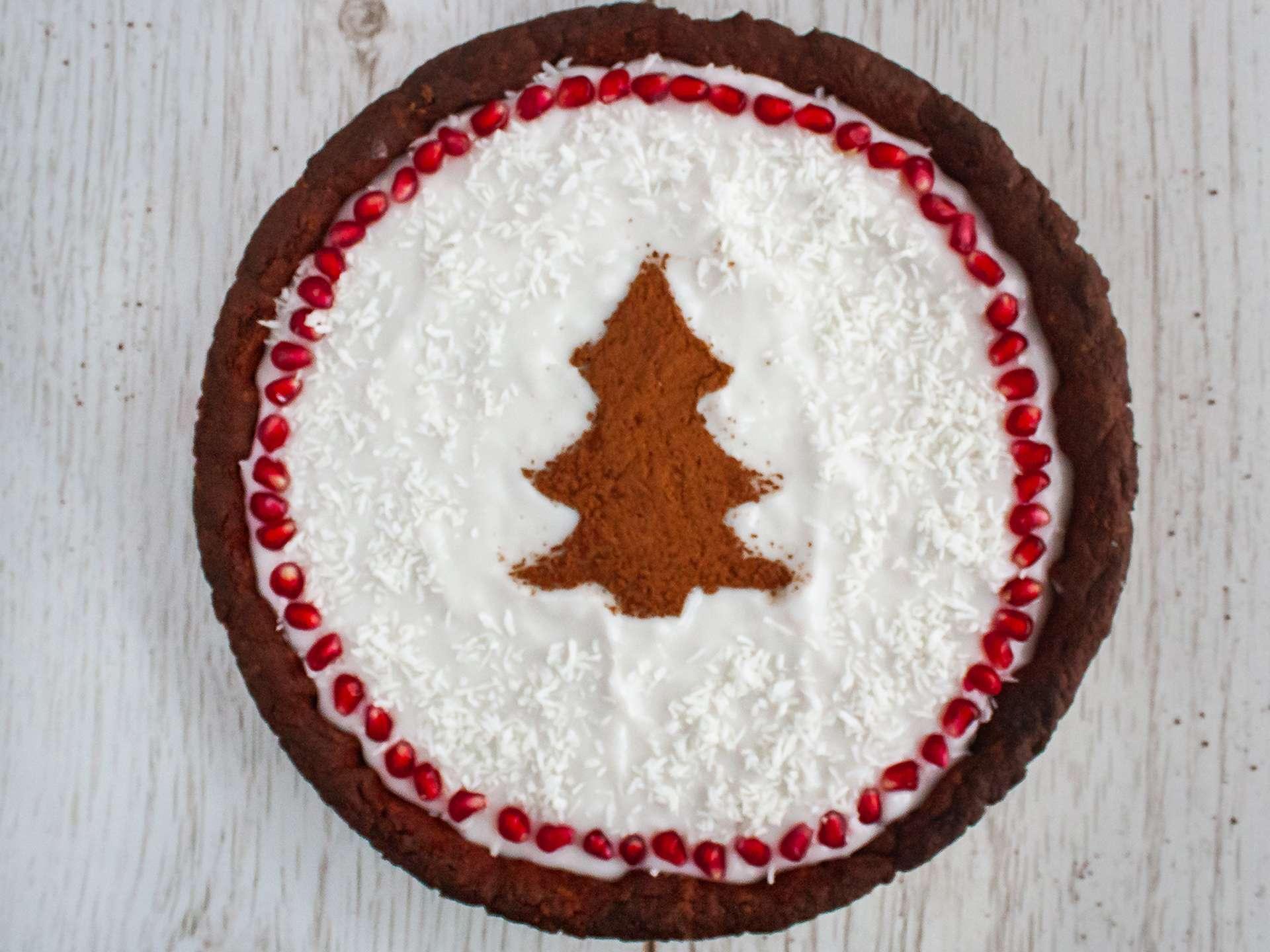 Step 5.2 of Chocolate Pomegranate Cake with Coconut Cream