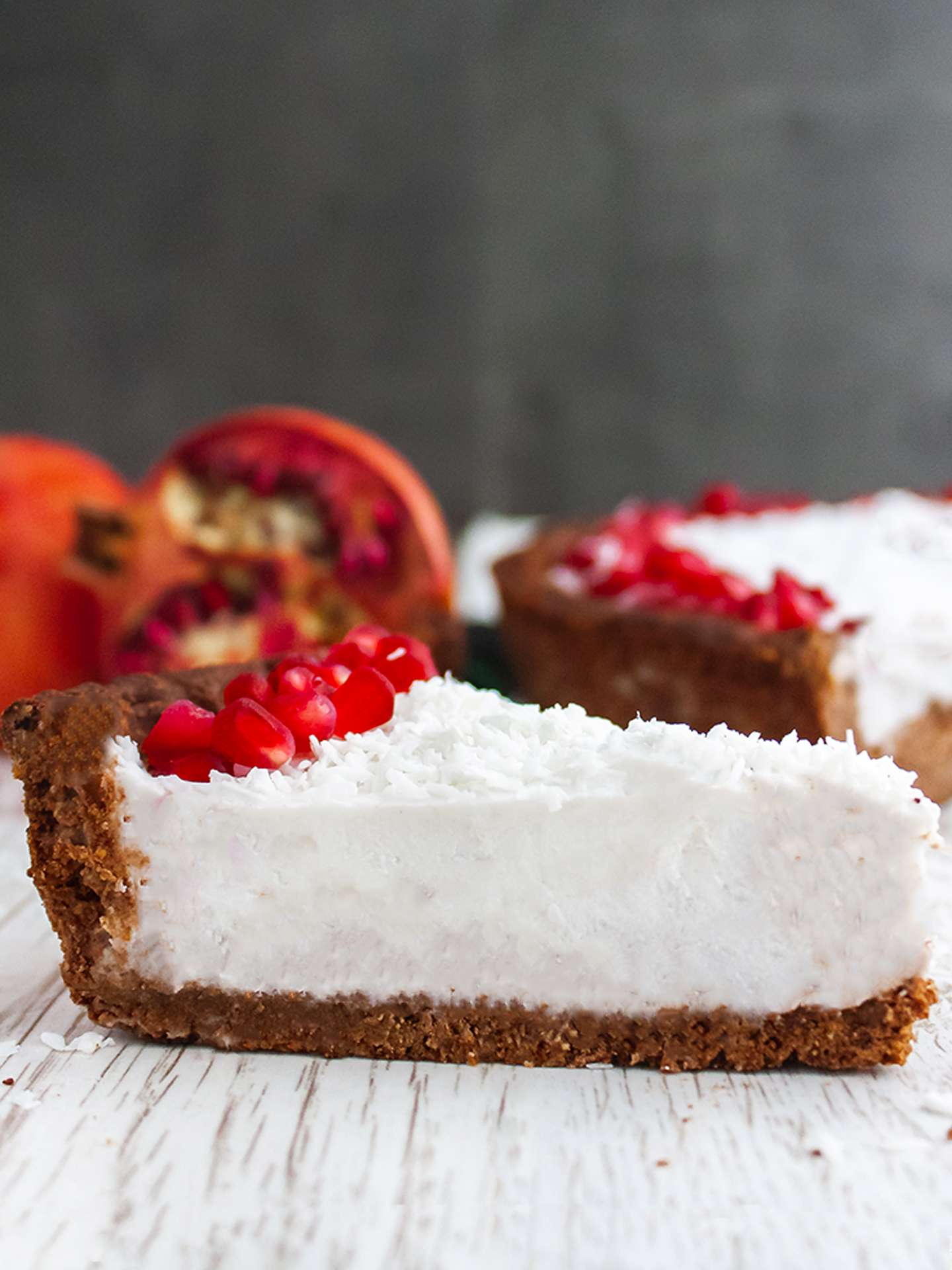 Chocolate Pomegranate Cake with Coconut Cream Thumbnail