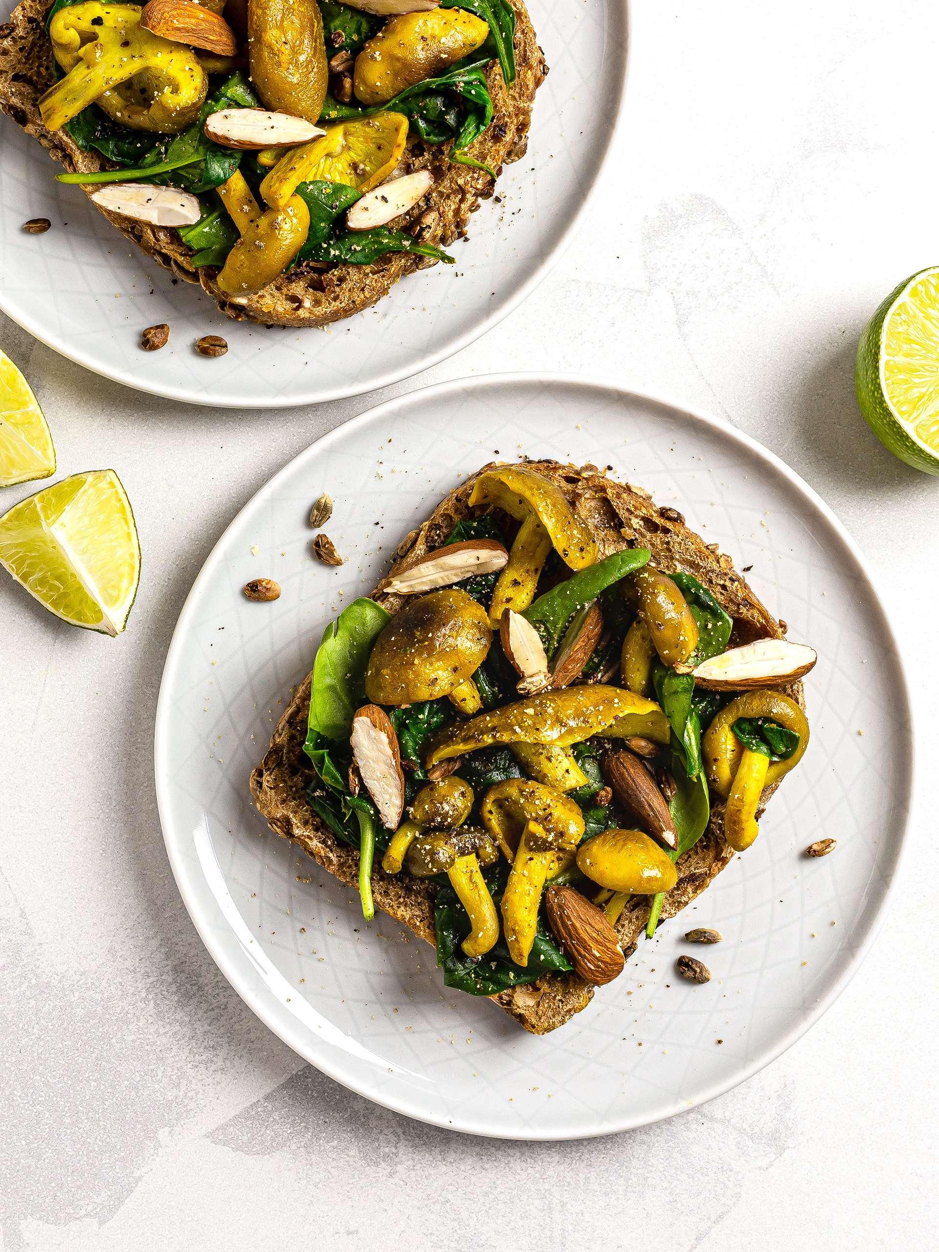 Turmeric Mushroom Breakfast Toast Recipe