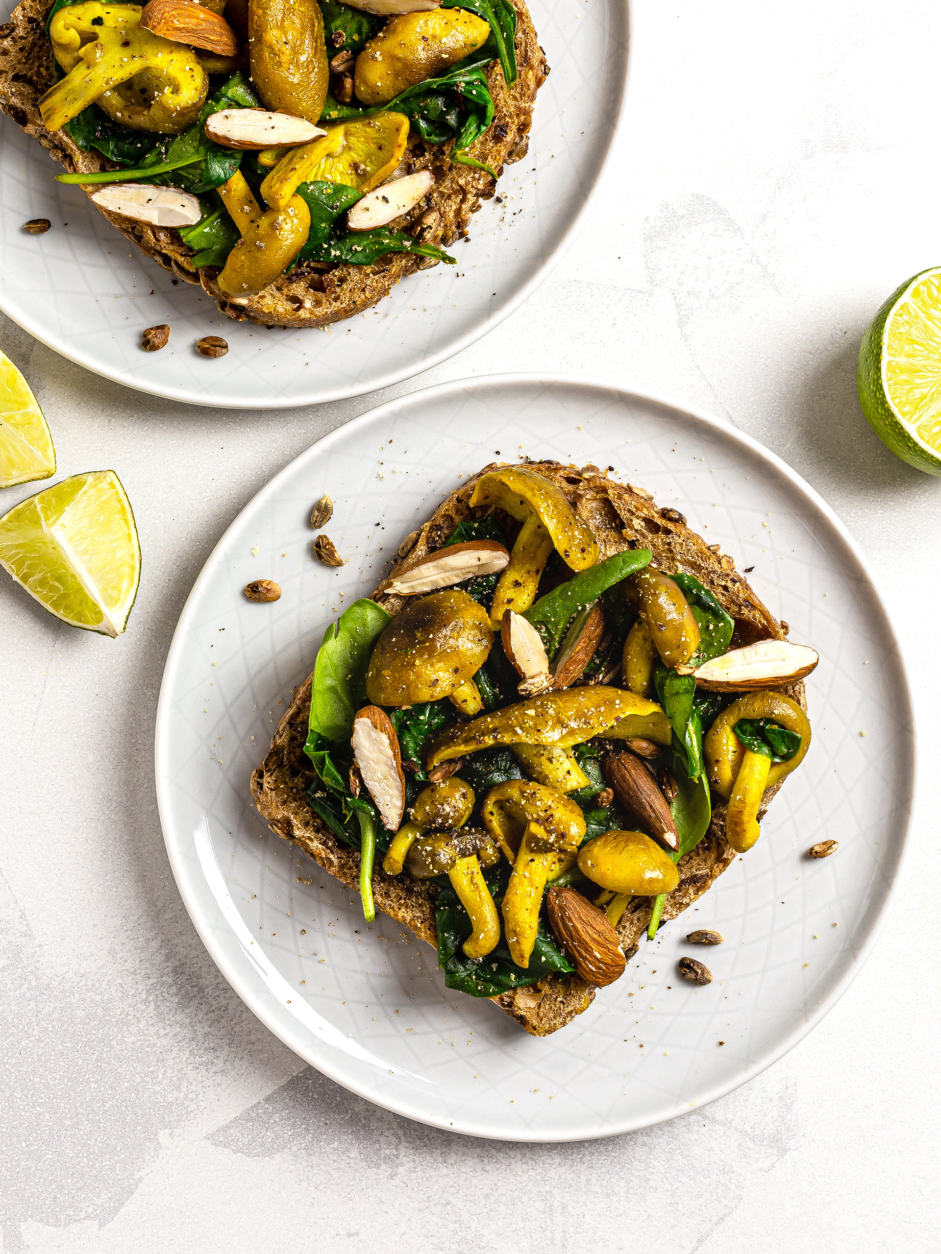 Turmeric Mushroom Breakfast Toast Recipe Preview