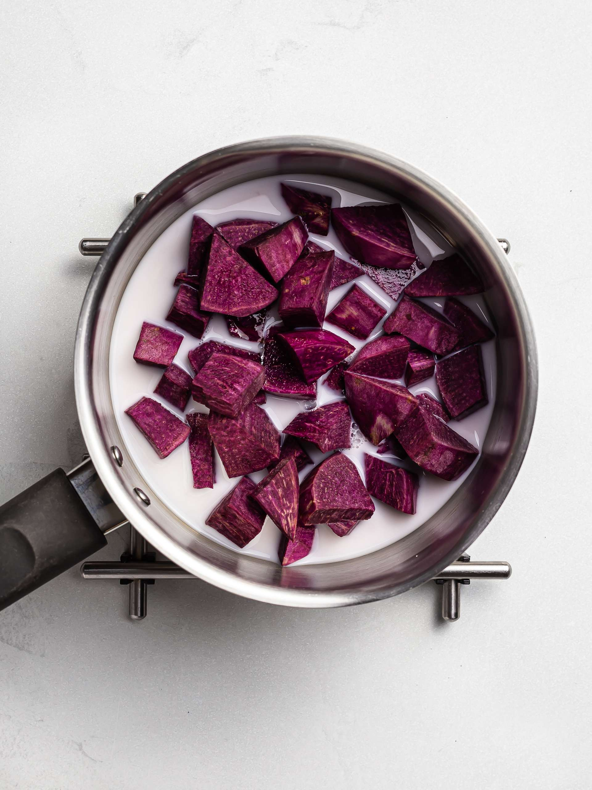 purple yam ube cooked with coconut milk