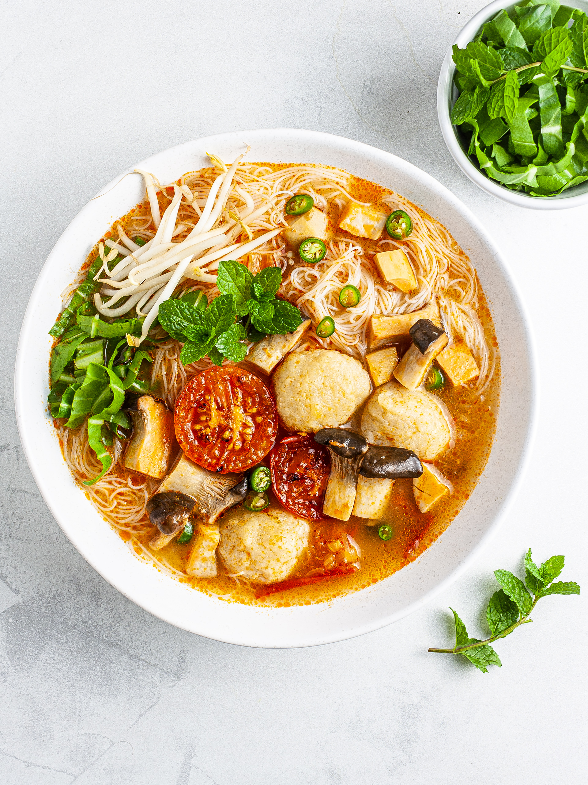Vietnamese King Oyster and Crab Bún Riêu Thumbnail