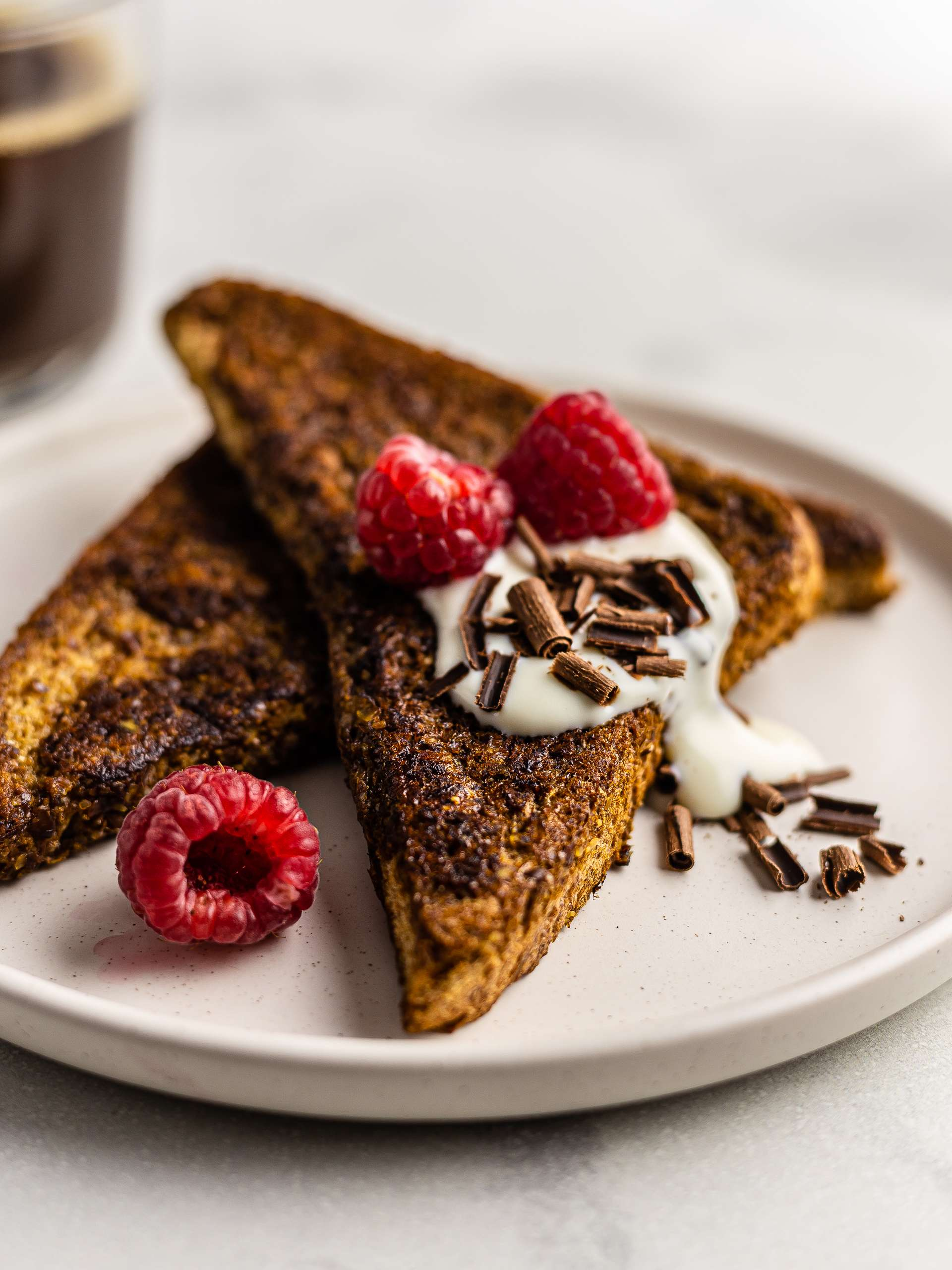 Vegan Coffee French Toast with Flaxseeds Thumbnail