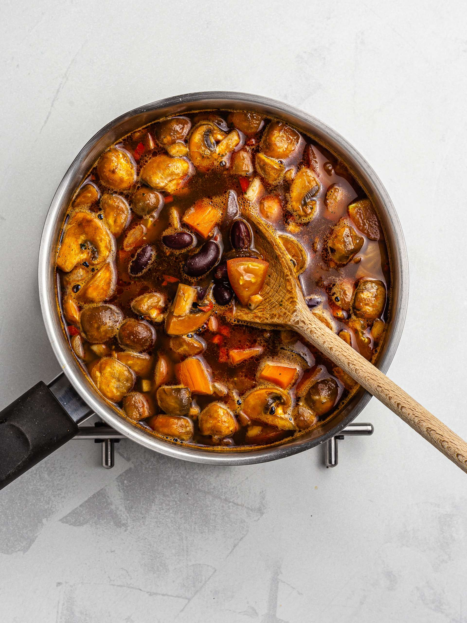 vegetable goulash stew in a pot