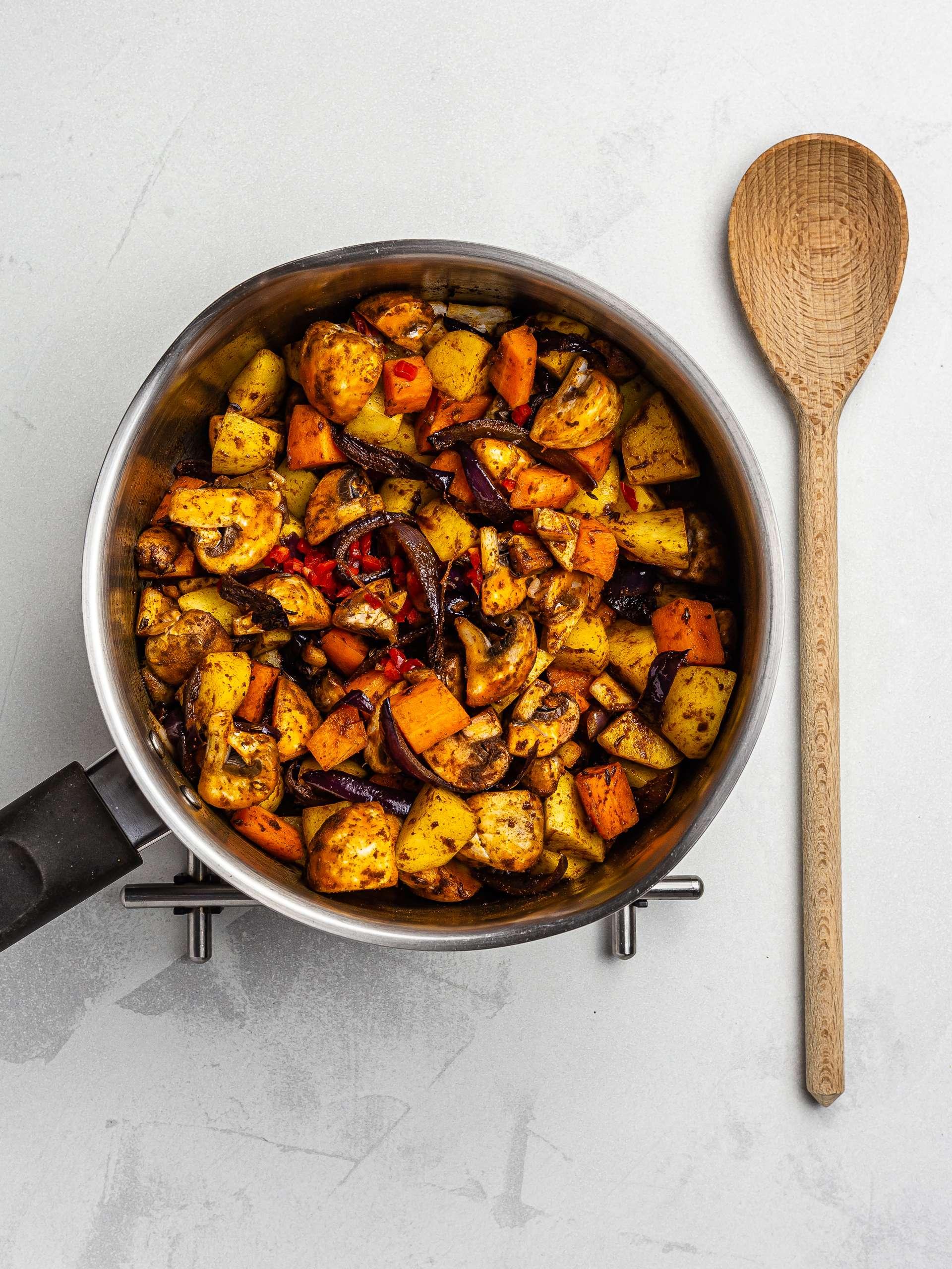 vegetable goulash in a pot