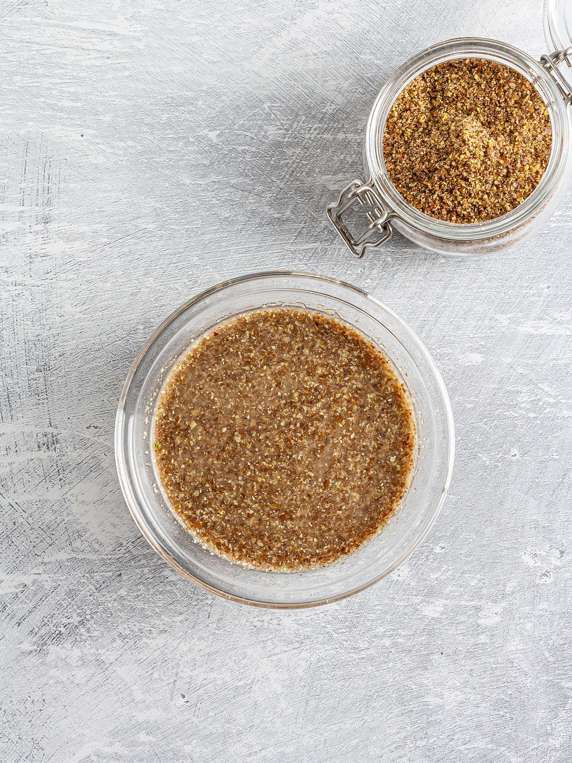 Soaked flaxseeds
