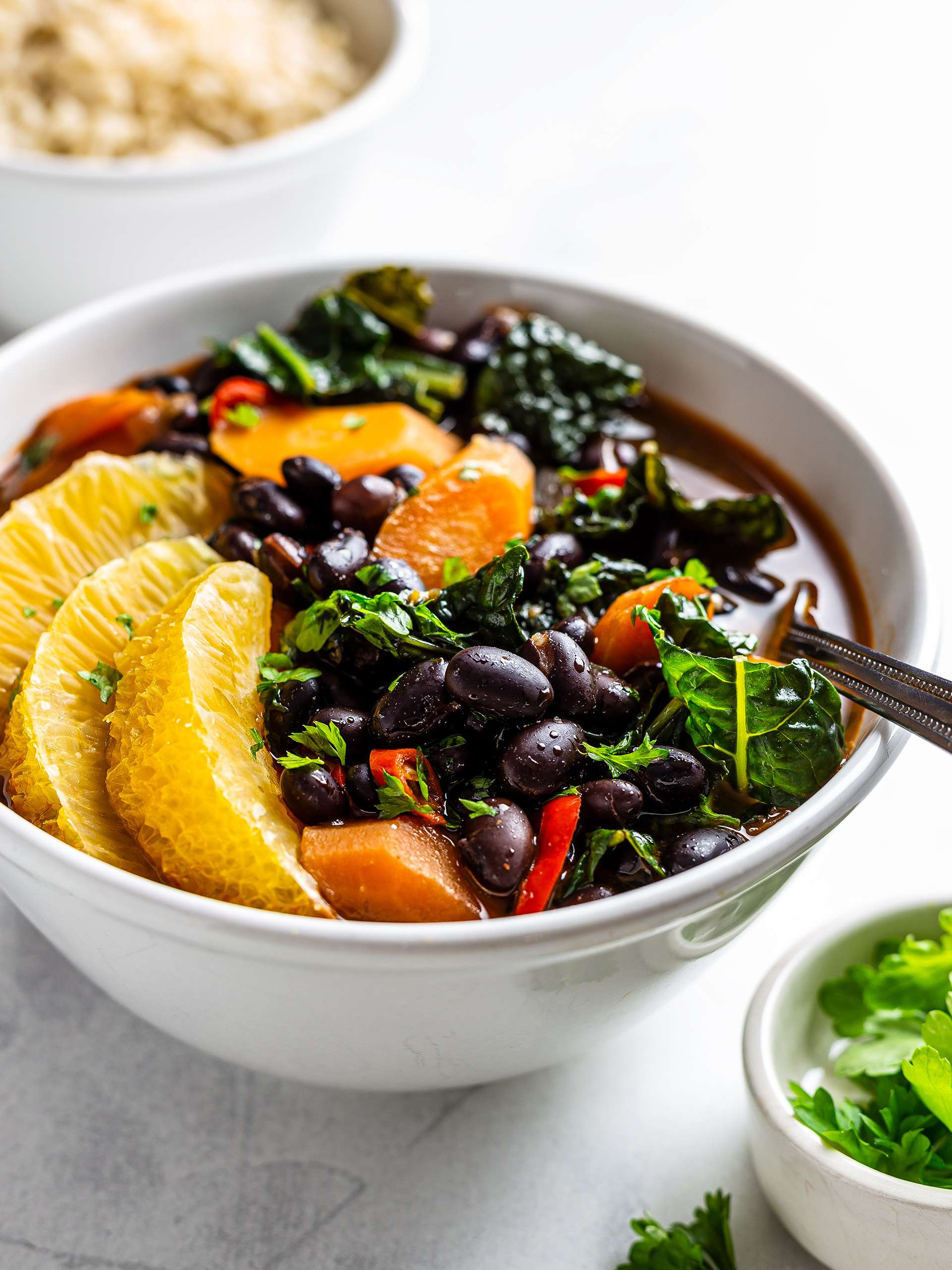 Vegan Brazilian Black Beans Stew (Feijoada) Thumbnail