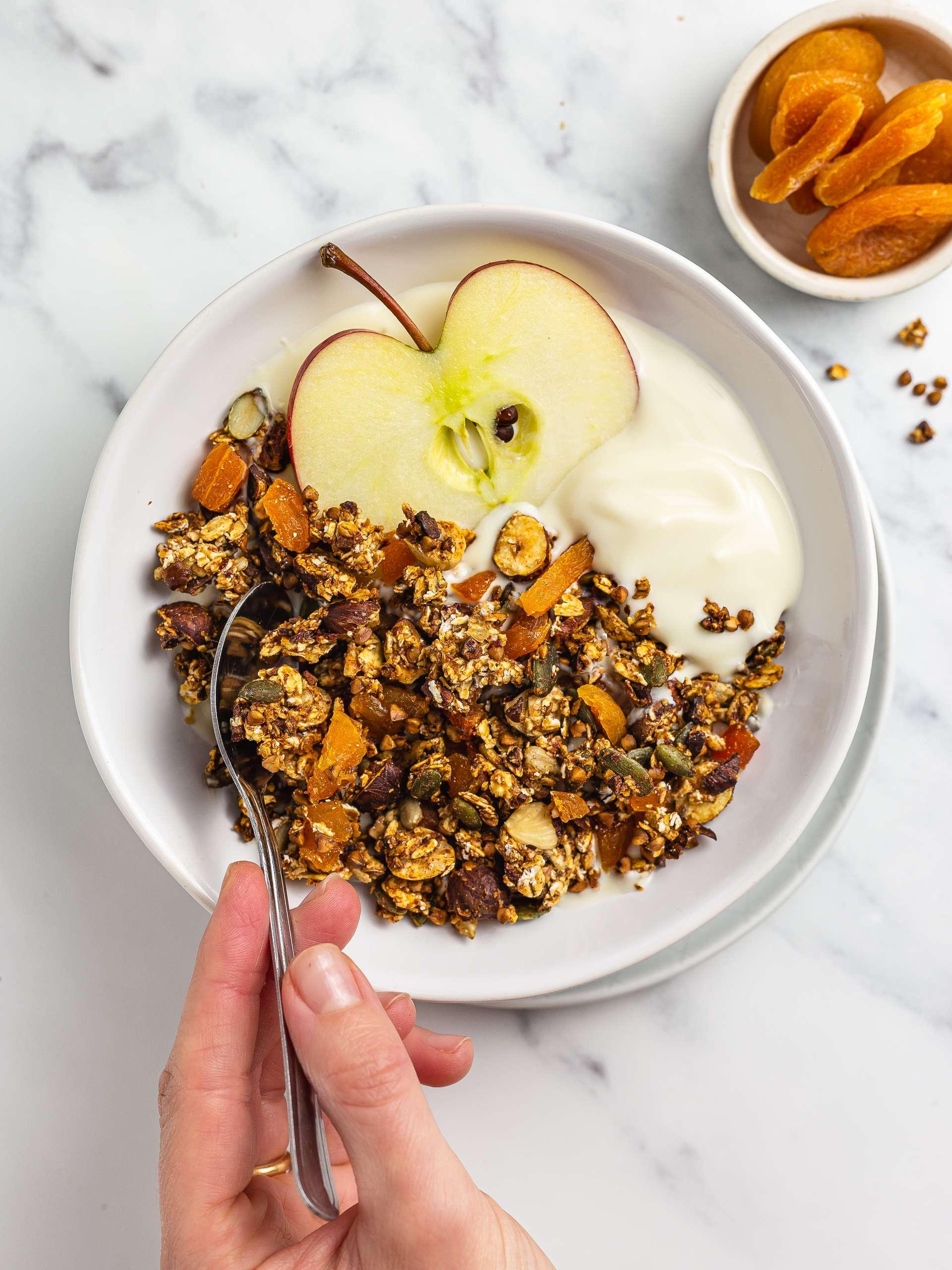 Sugar-Free Apricot Granola Recipe Thumbnail