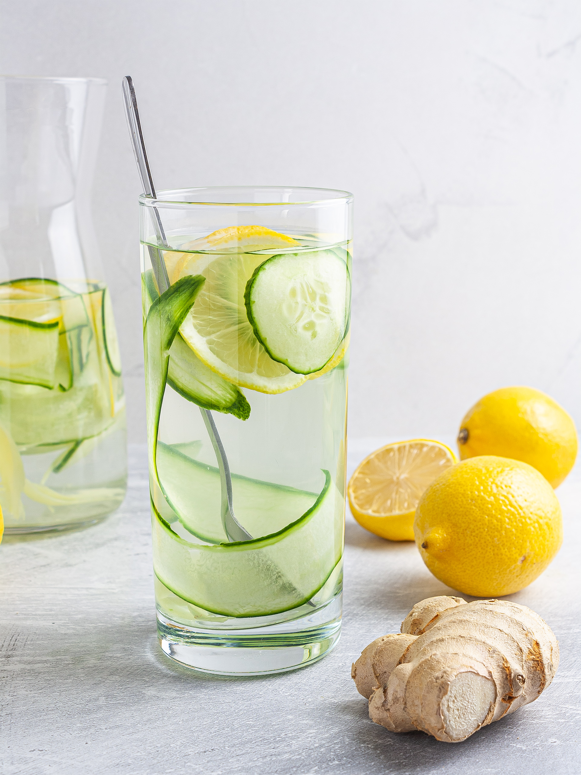 Cucumber Ginger Lemon Water Thumbnail