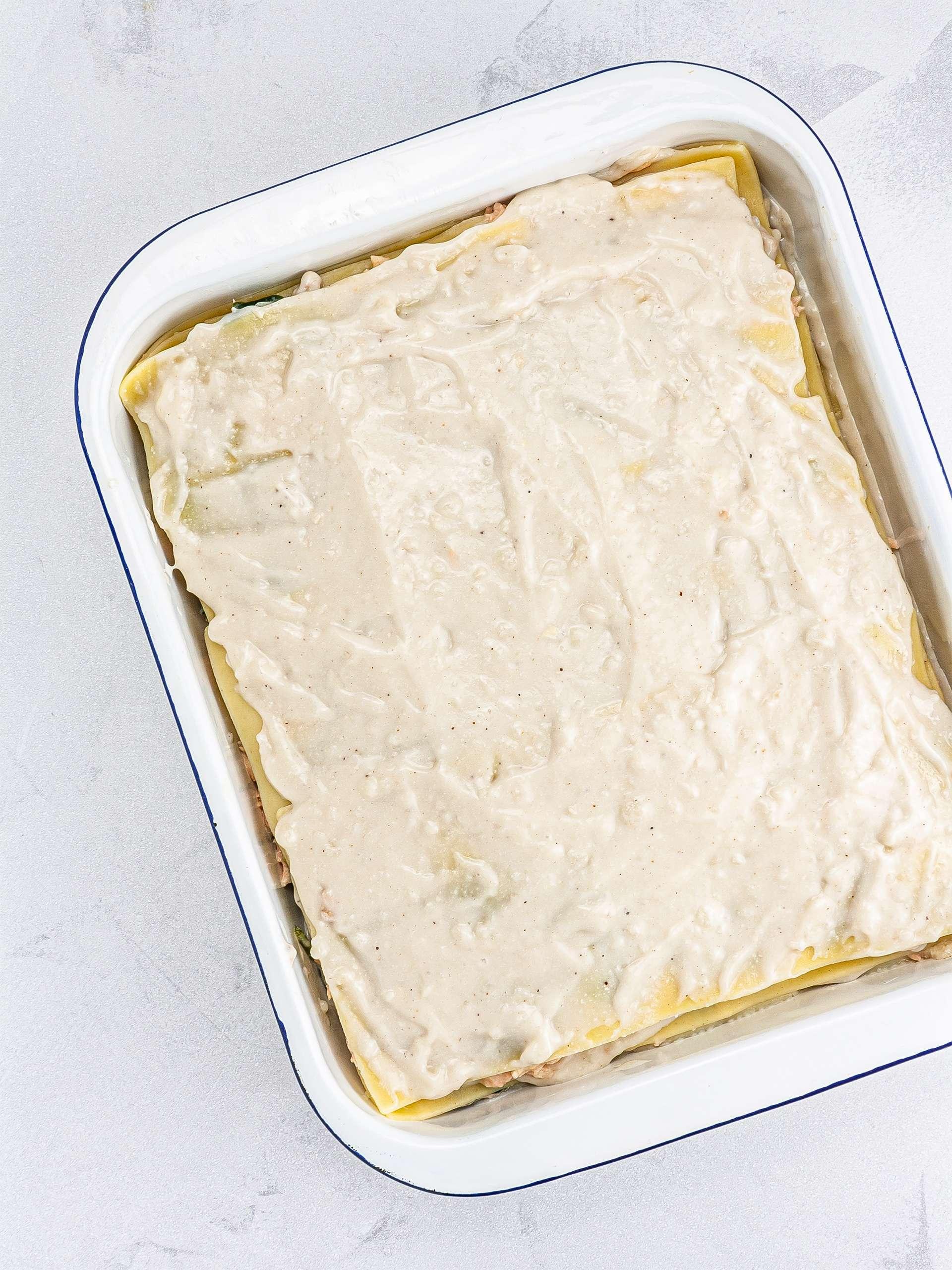 Step 4.2 of Dairy-Free Spinach Salmon Lasagna Recipe