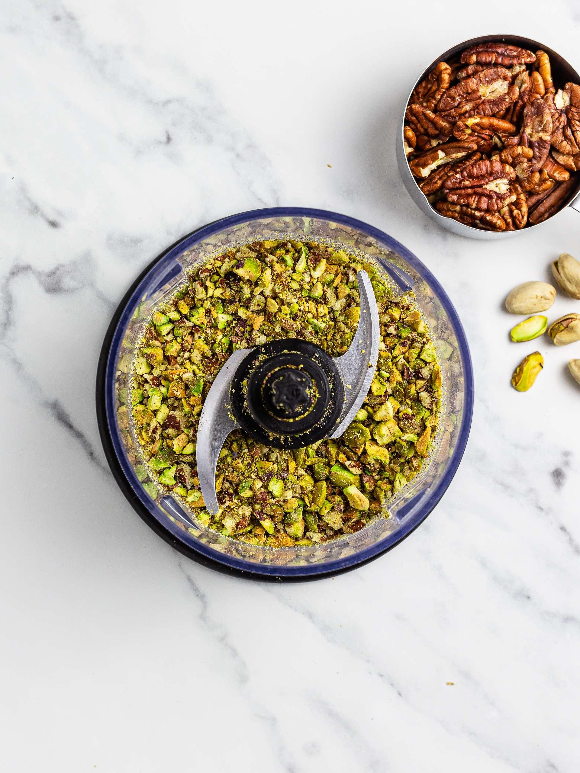 ground pistachios and pecans