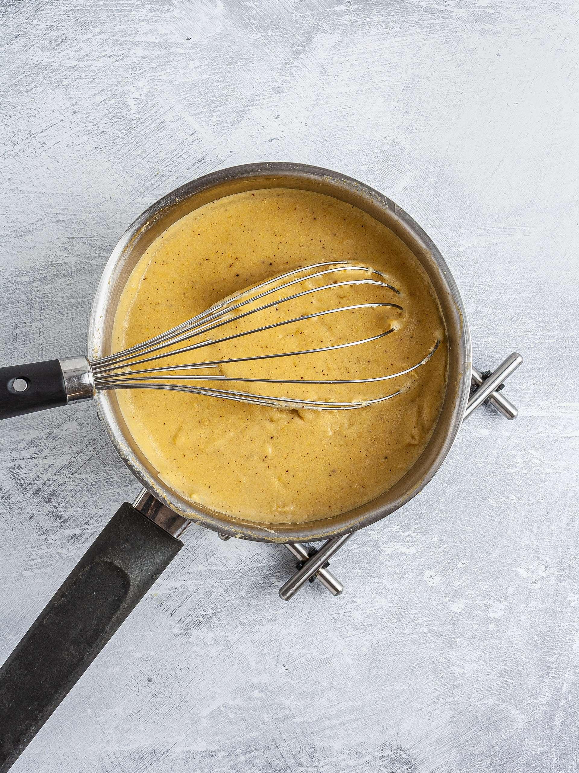 Cooked cornmeal porridge