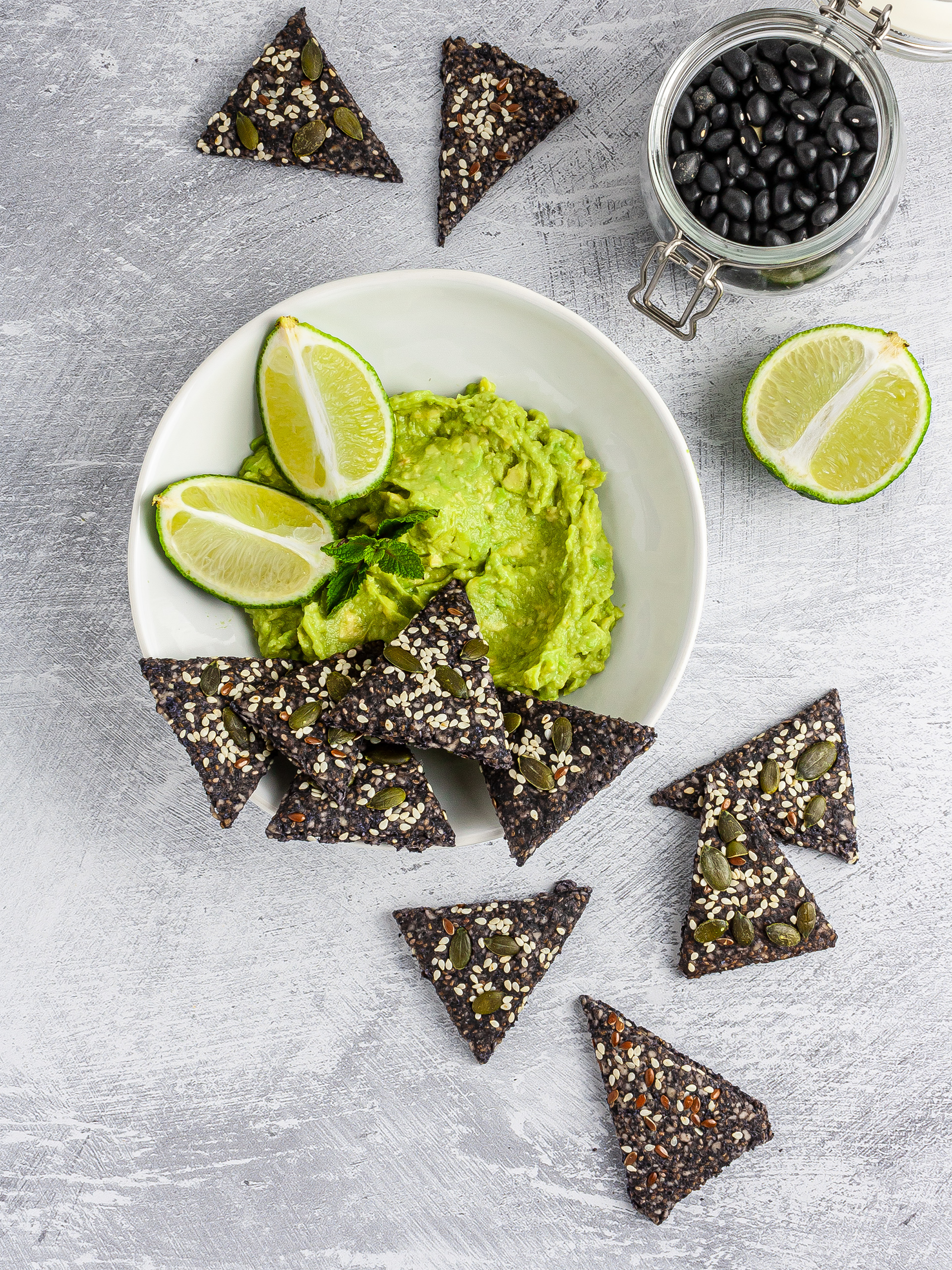 Homemade Black Bean Chips Recipe Thumbnail