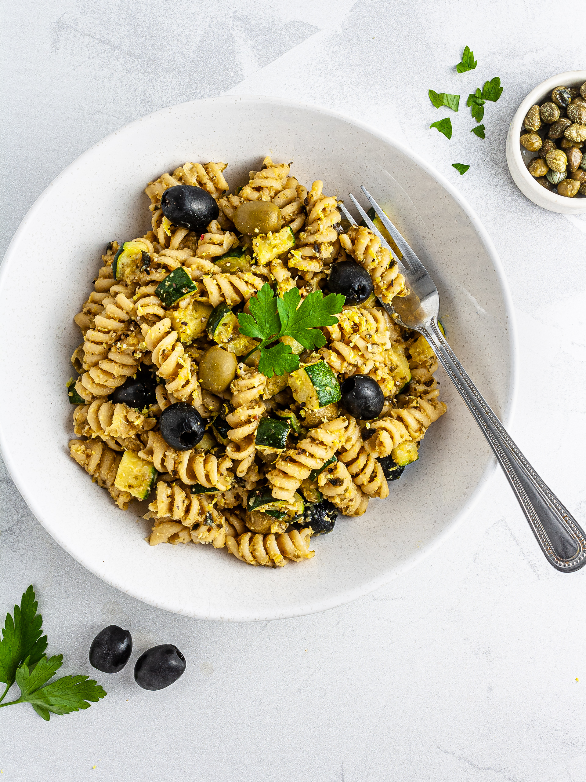 Vegan Tuna Pasta Salad Recipe Thumbnail