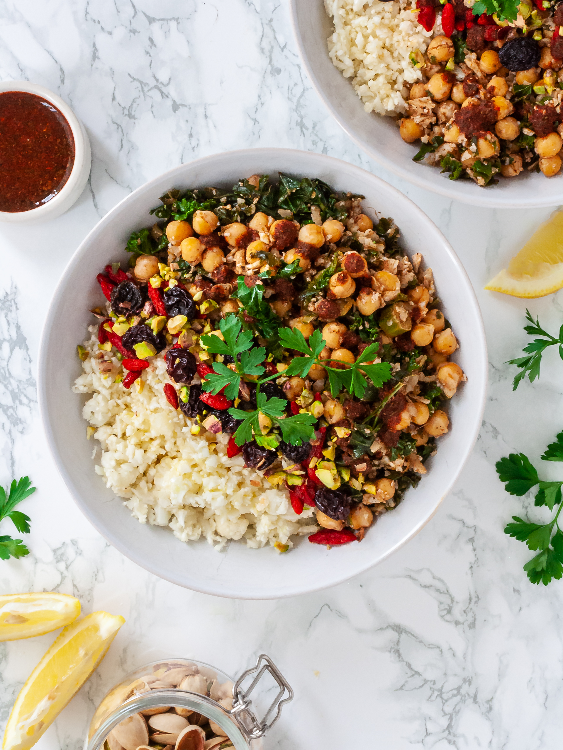Moroccan Cauliflower Rice Recipe Thumbnail
