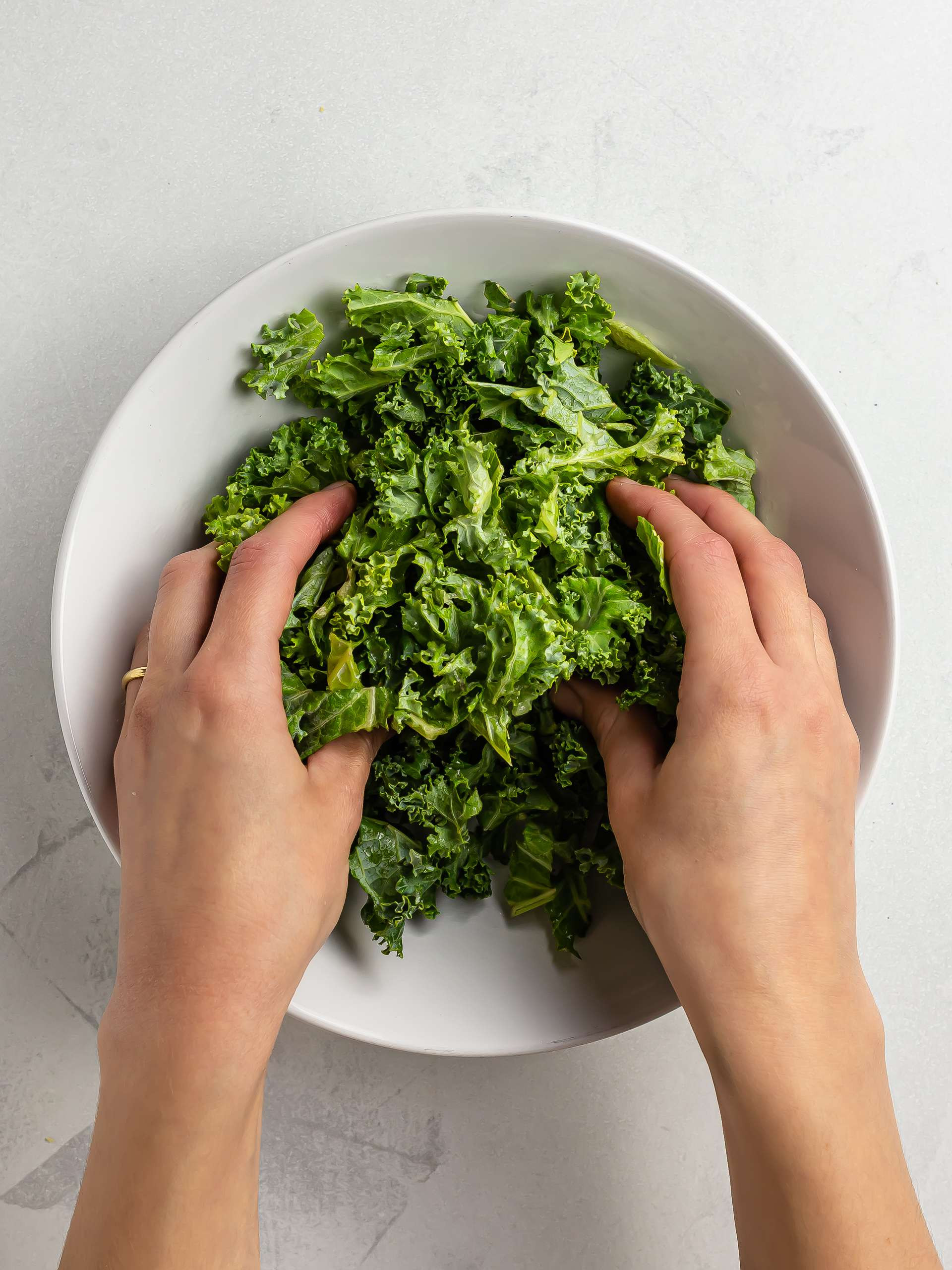 how to soften the kale by hand