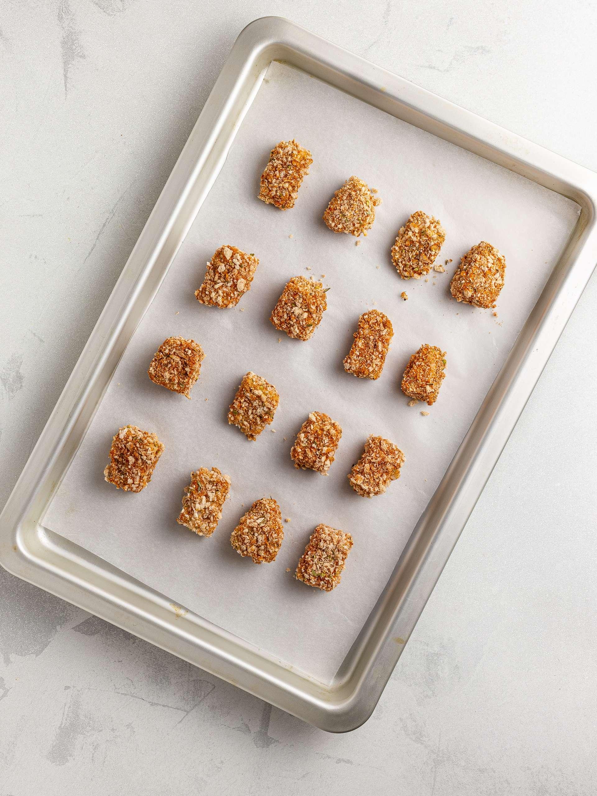 breaded jackfruit nuggets