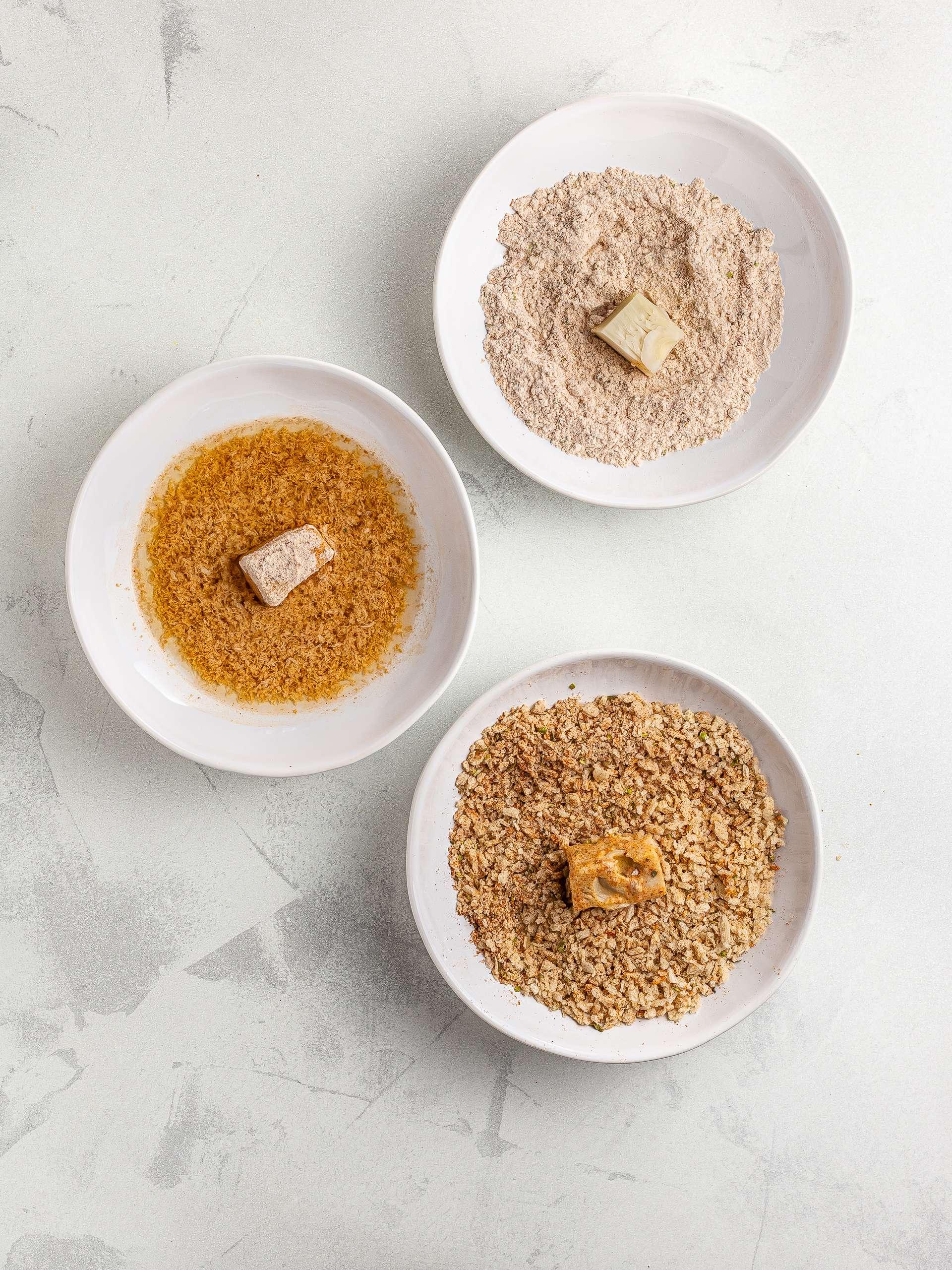 breading ingredients for jackfruit nuggets