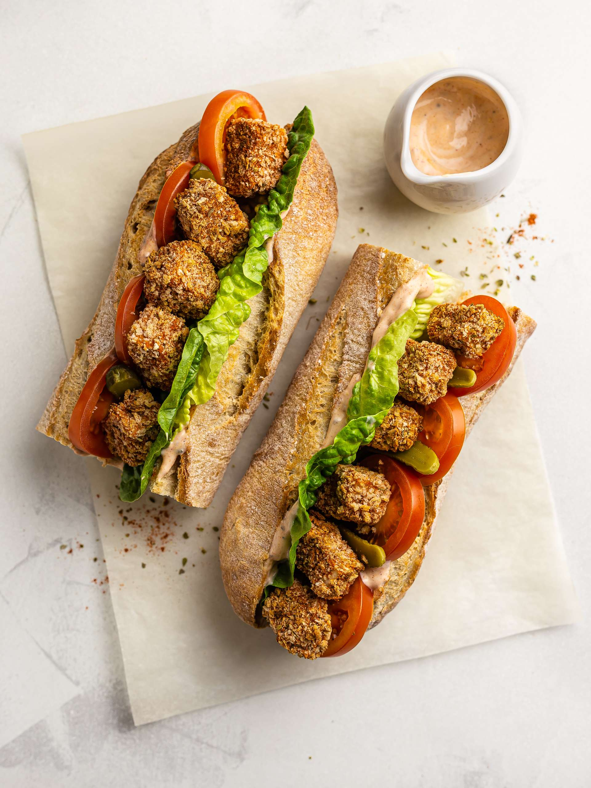 Vegan Jackfruit Po Boy Recipe Thumbnail