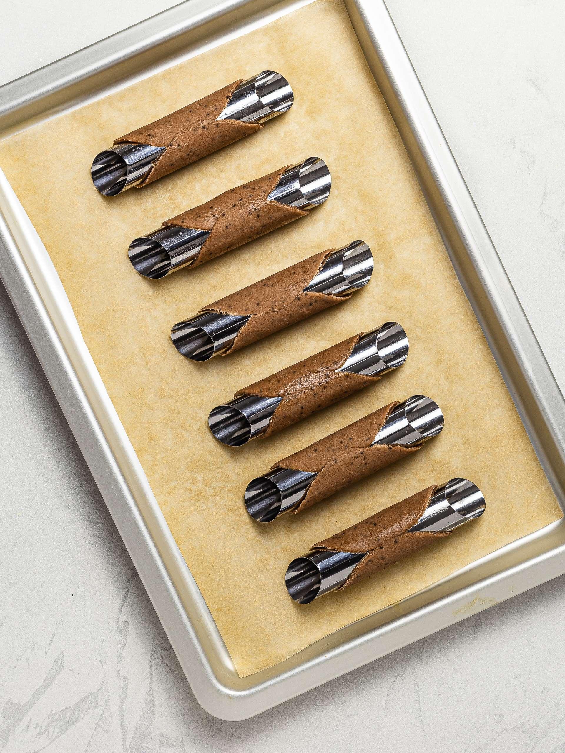 oven-baked cannoli shells
