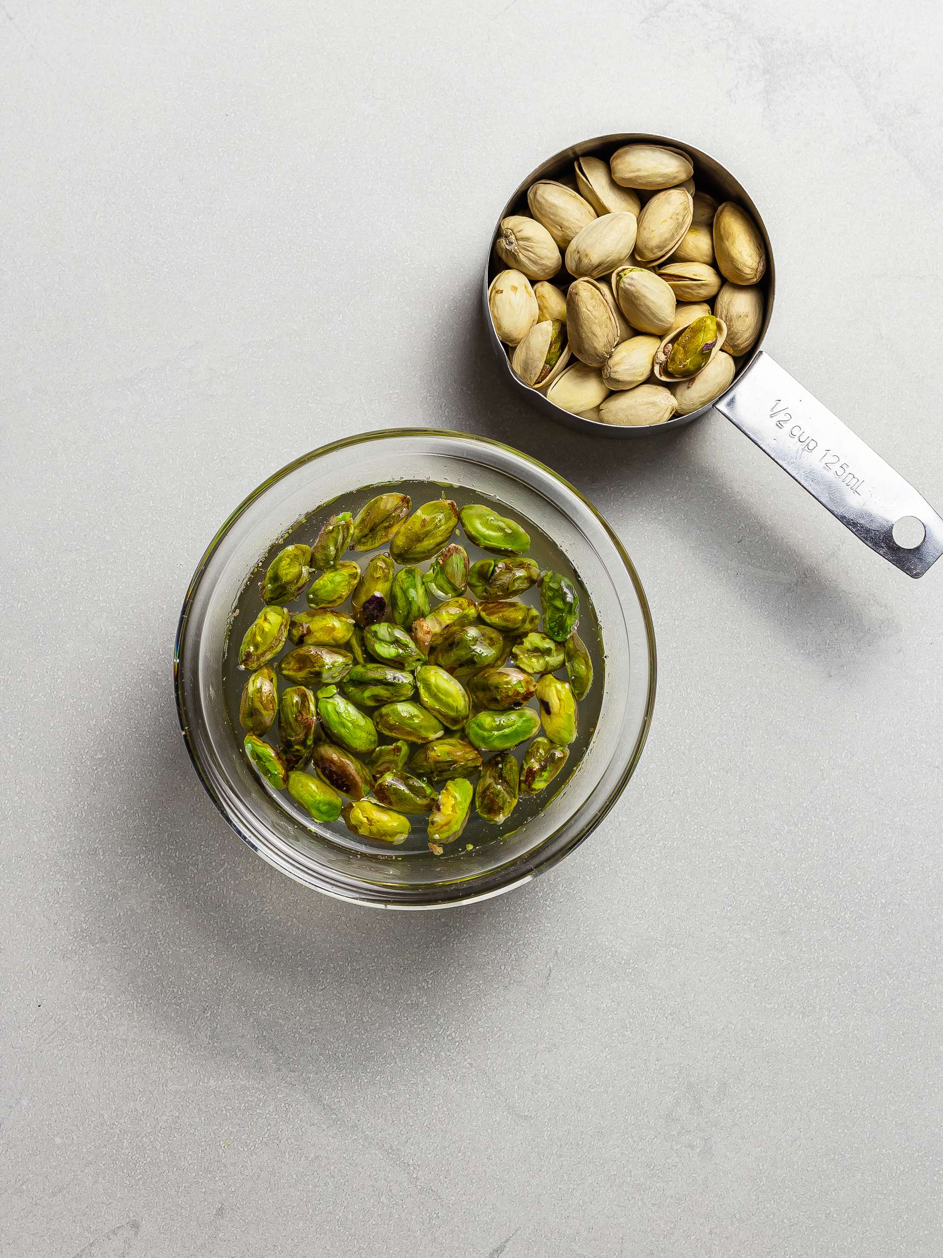 soaked pistachio nuts