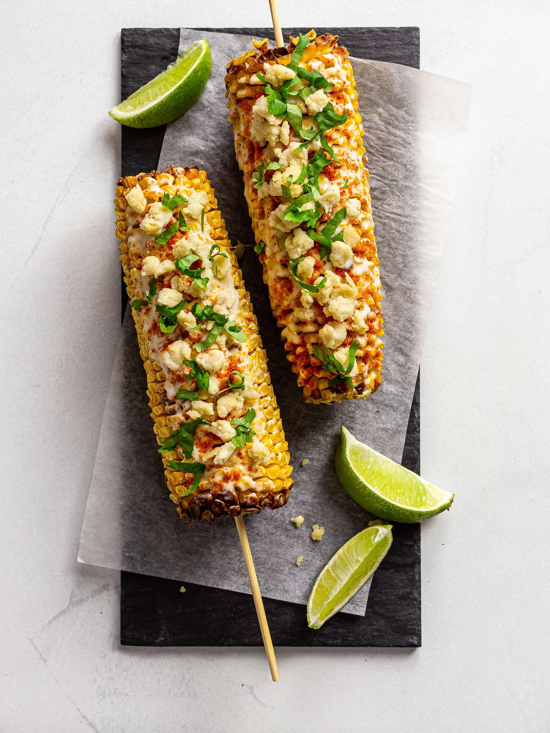 Vegan Elote (Mexican Grilled Street Corn)