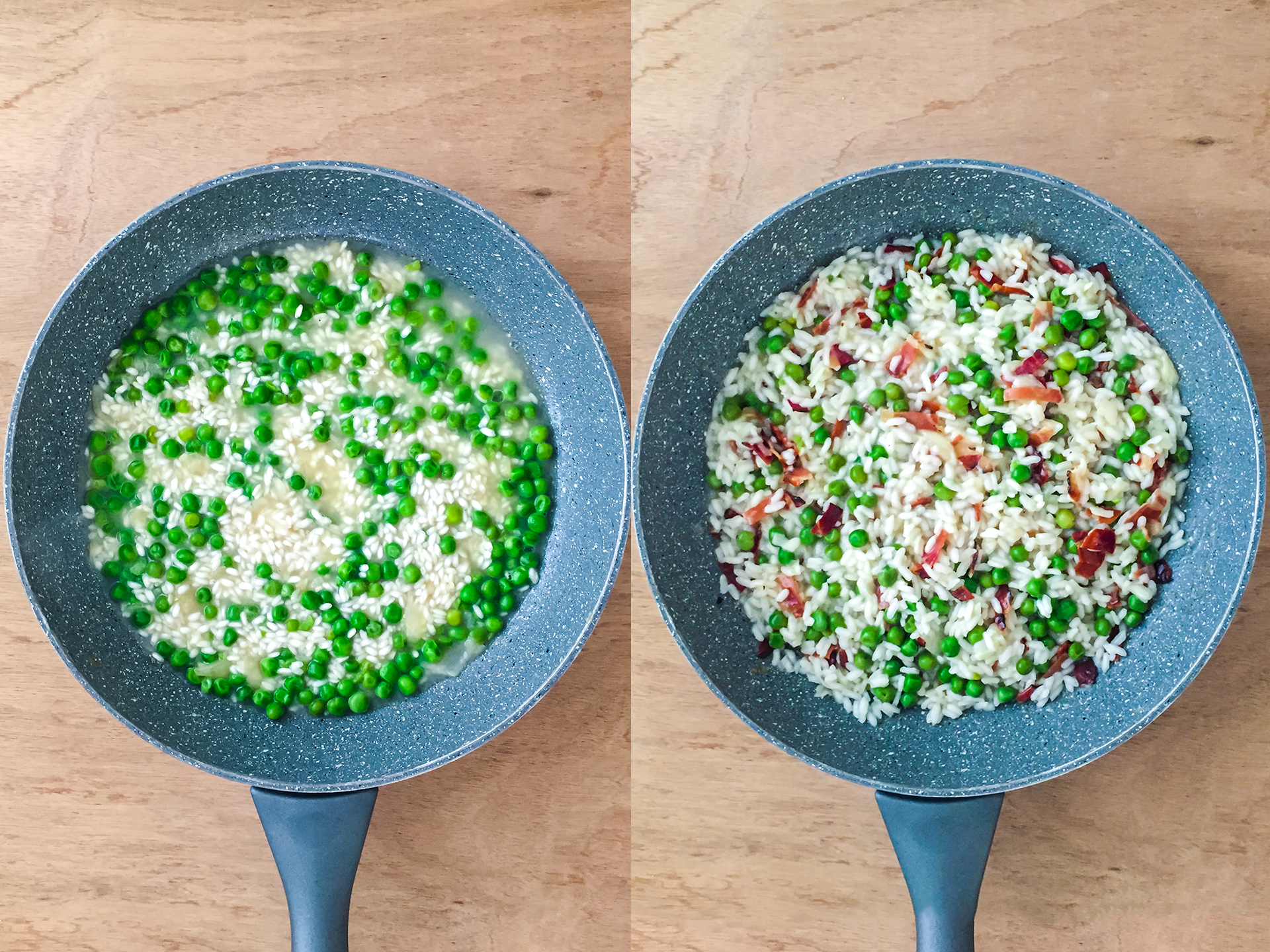 Step 3.1 of Smoked Ham and Peas Risotto Recipe