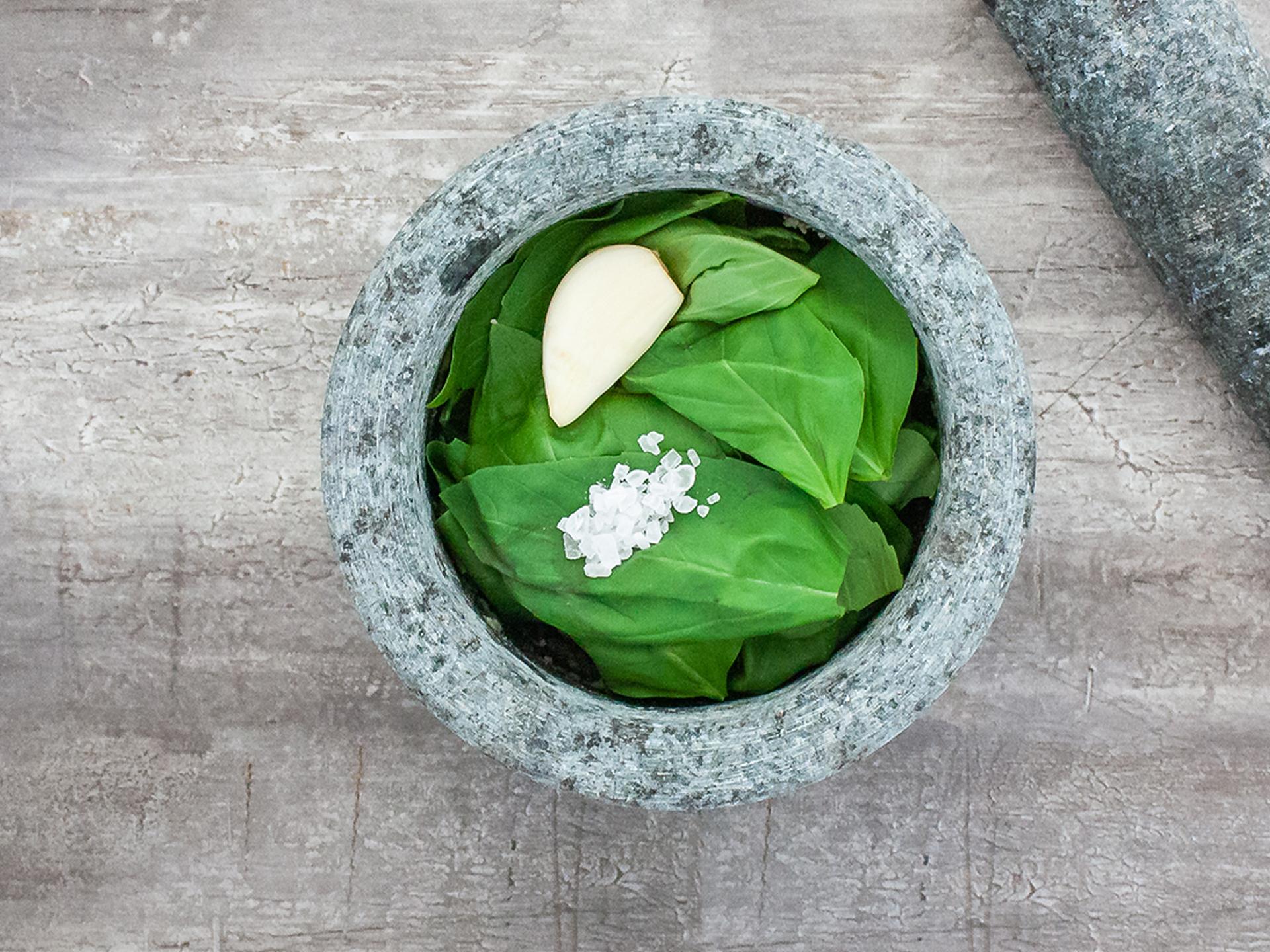 Step 2.1 of Authentic Pesto Genovese Recipe