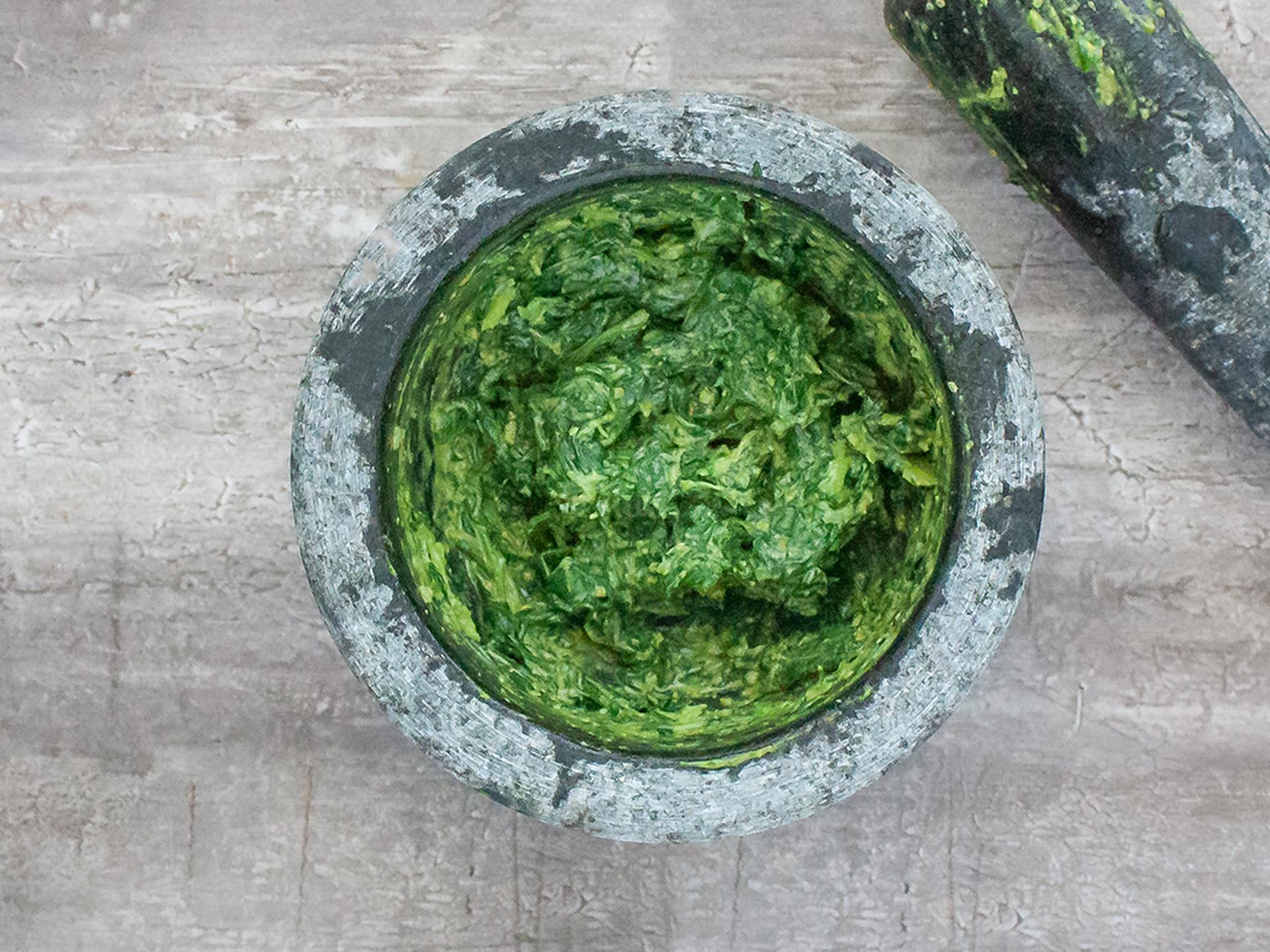 Step 2.2 of Authentic Pesto Genovese Recipe