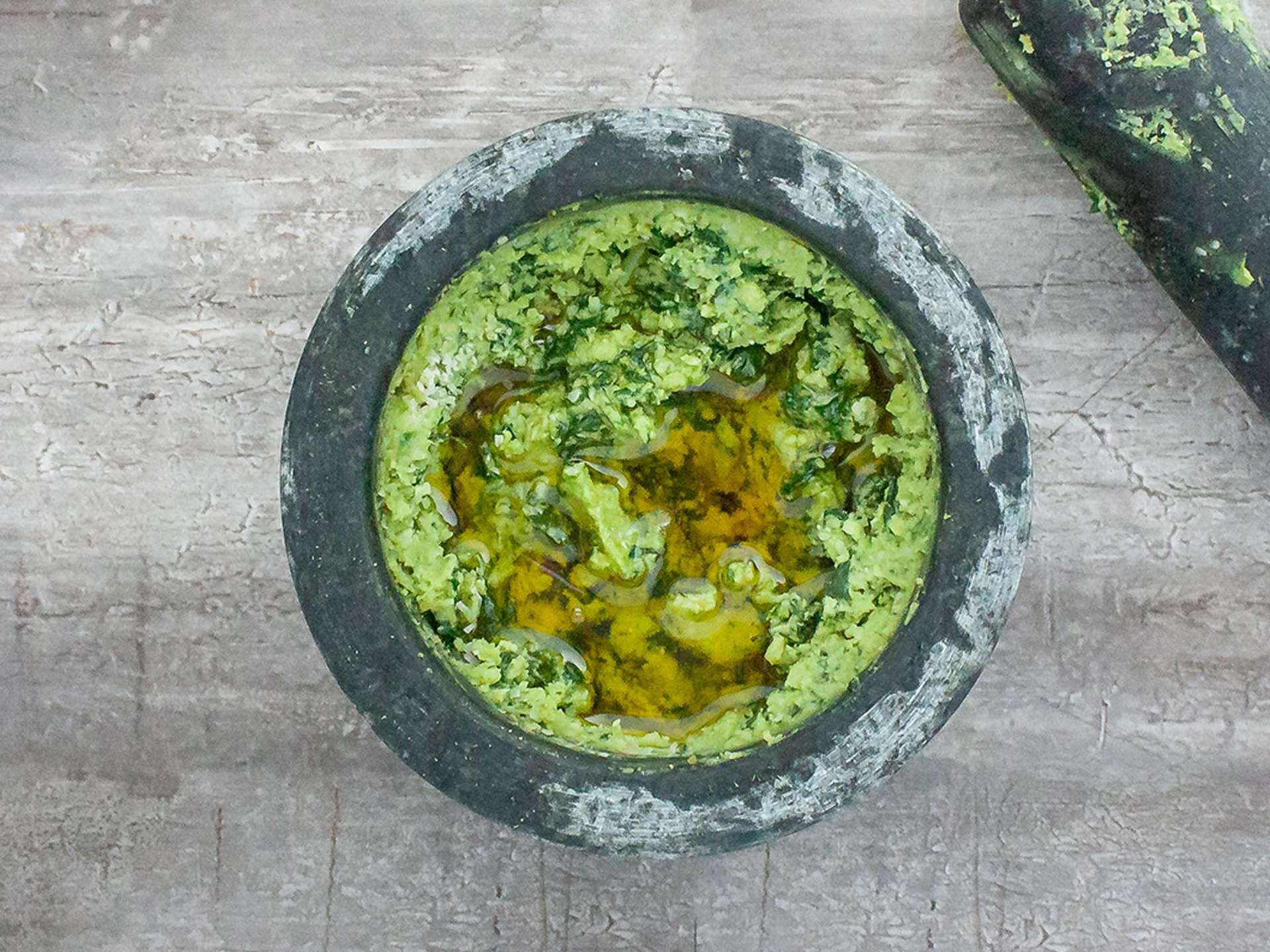 Step 4.1 of Authentic Pesto Genovese Recipe