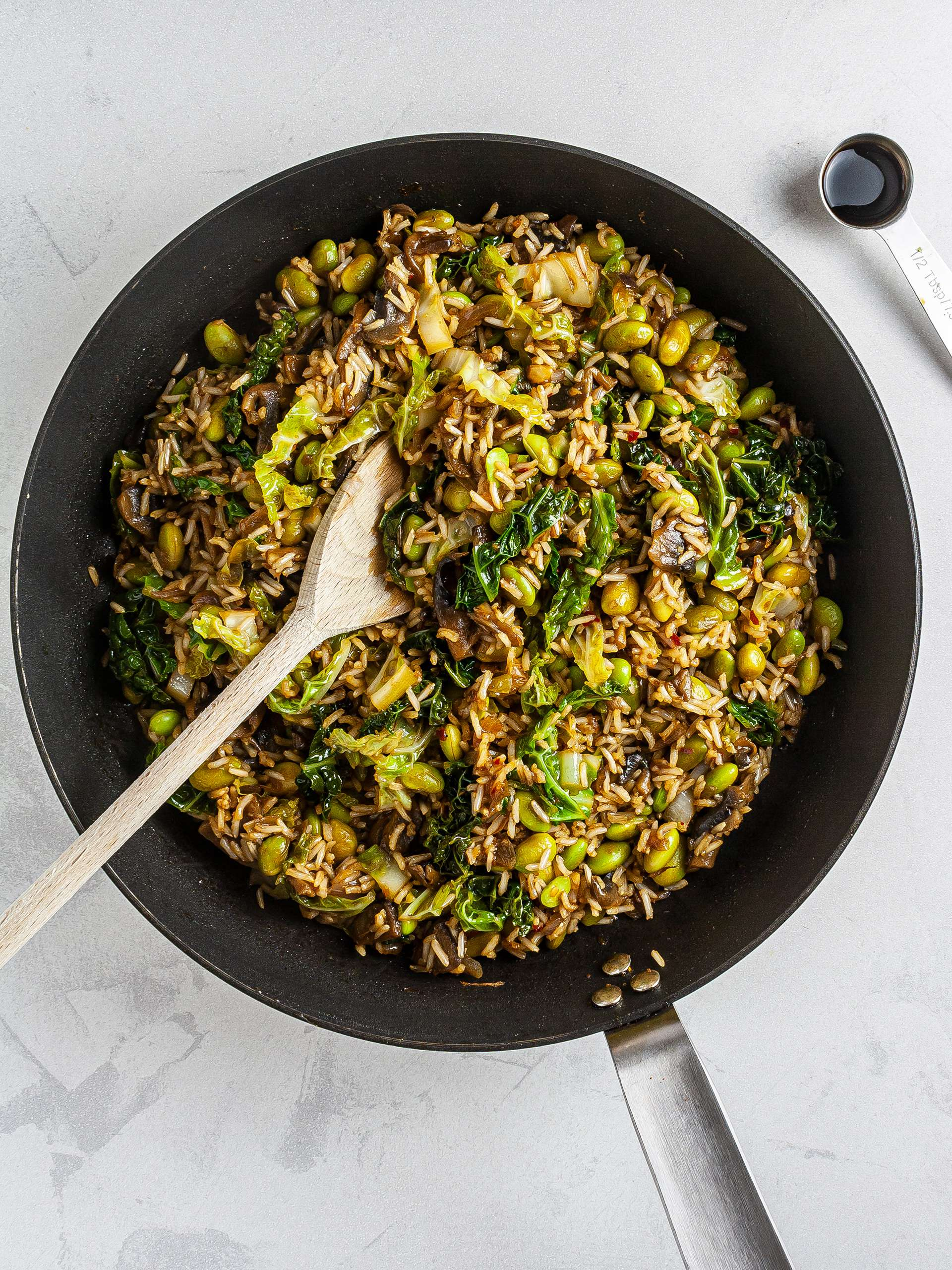 Fried rice with maple and soy sauce