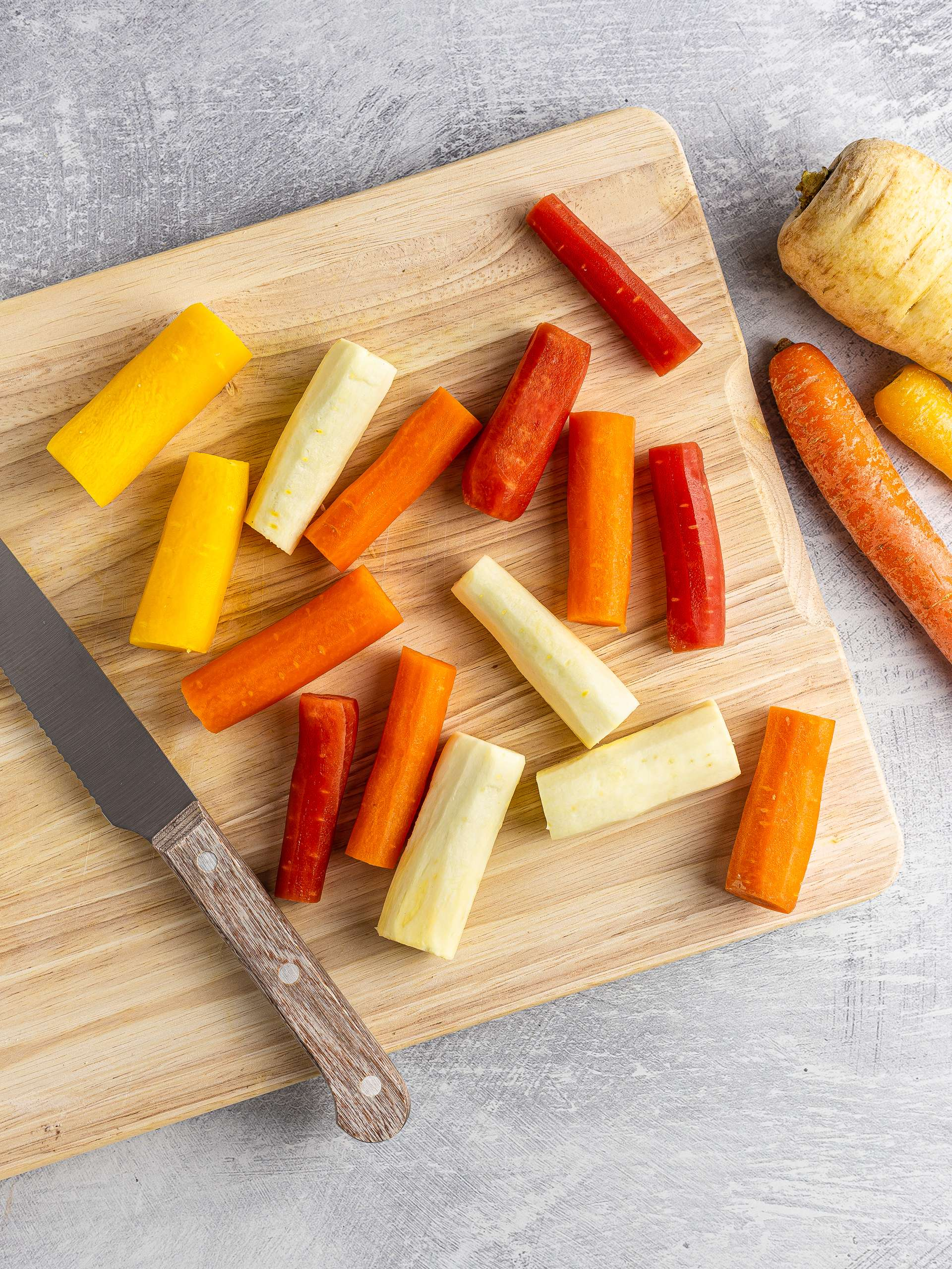 carrot and parsnips sticks
