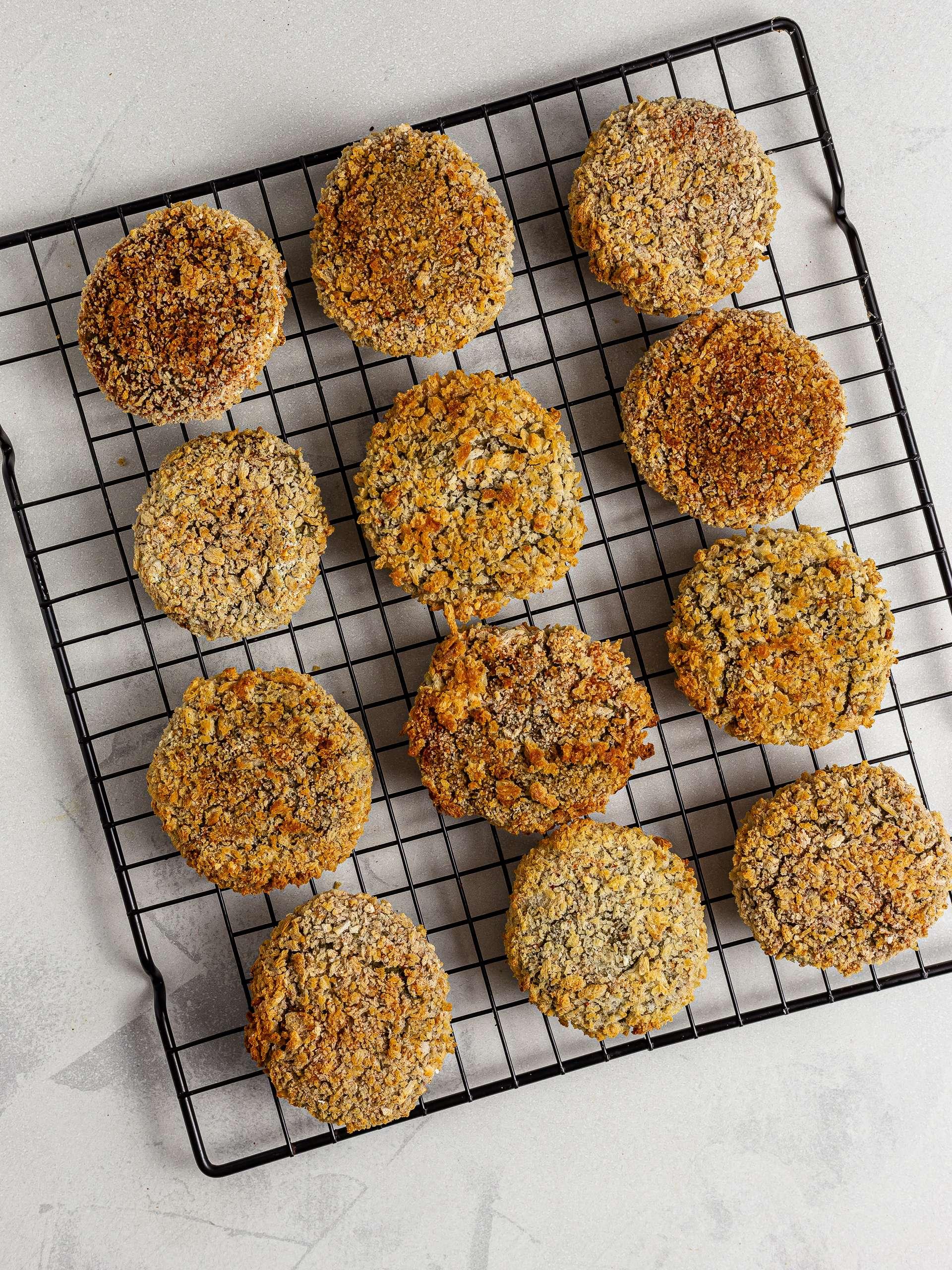 Oven-baked lentil nuggets